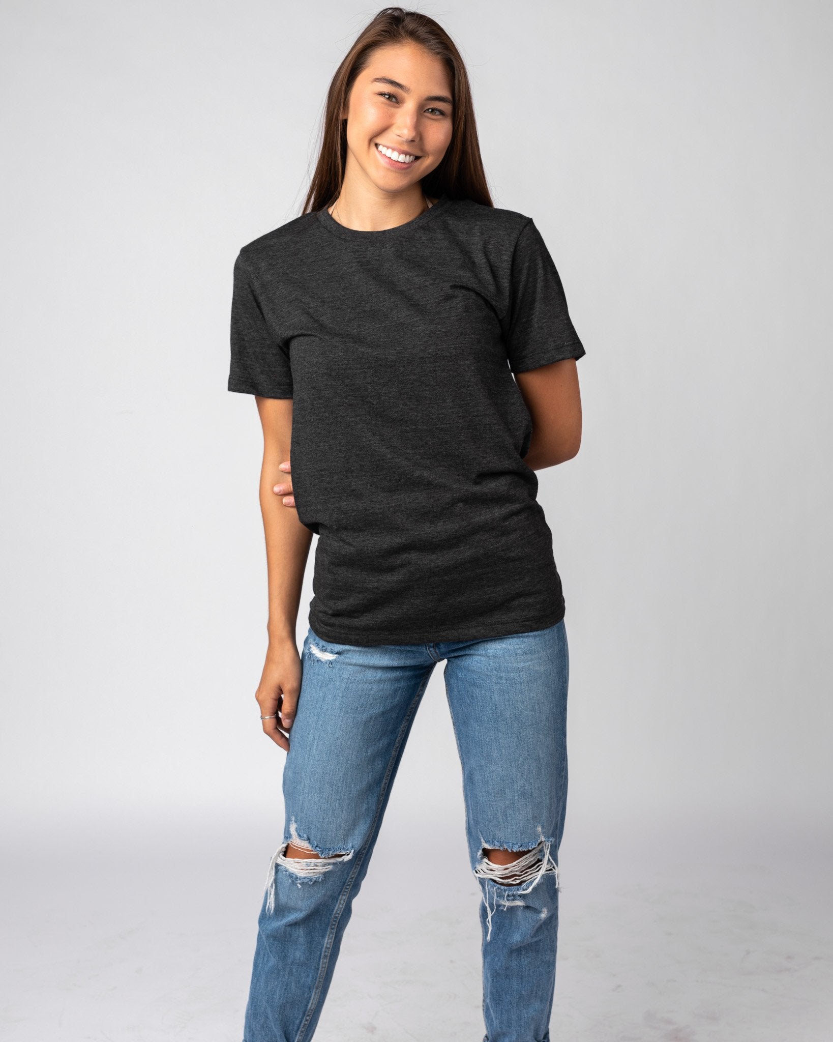 Black Unisex Essentials Collection Vintage T-Shirt Wide