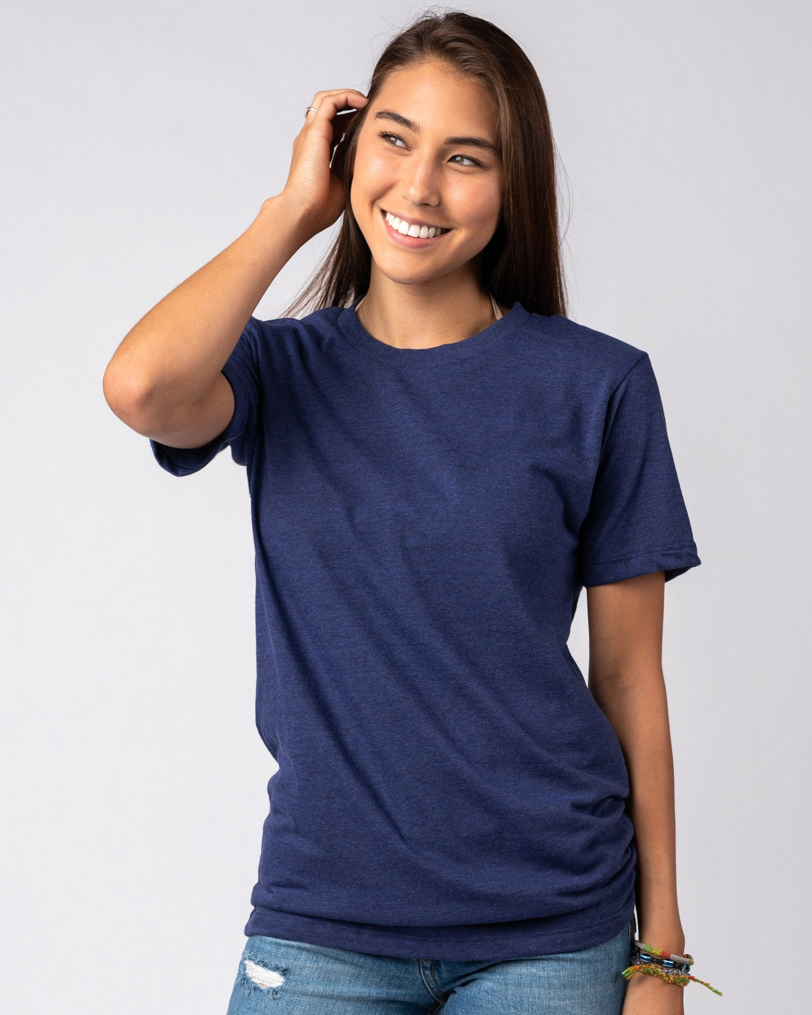 Navy Unisex Essentials Collection Vintage T-Shirt Front