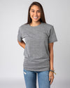 Grey Unisex Essentials Collection Vintage T-Shirt Front