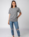 Grey Unisex Essentials Collection Vintage T-Shirt Wide