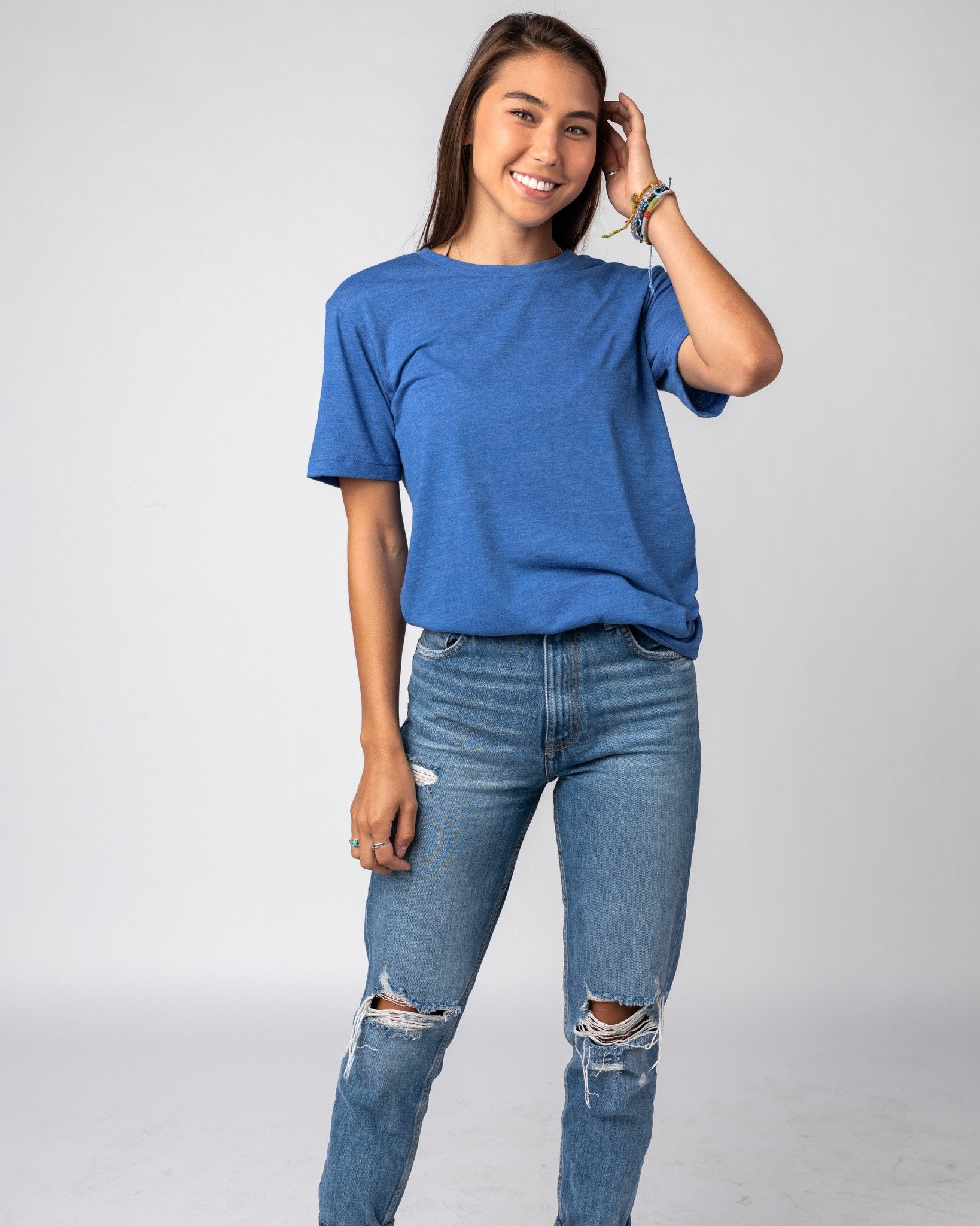 Royal Blue Unisex Essentials Collection Vintage T-Shirt Wide