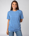 Light Blue Unisex Essentials Collection Vintage T-Shirt Front