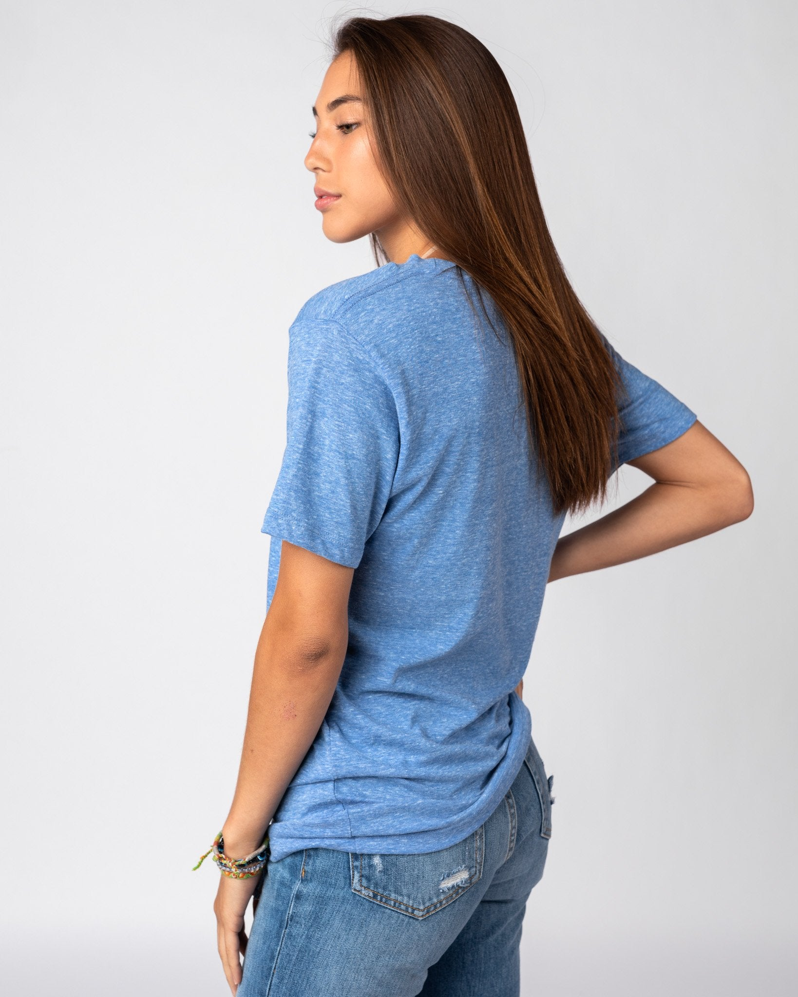 Light Blue Unisex Essentials Collection Vintage T-Shirt Side