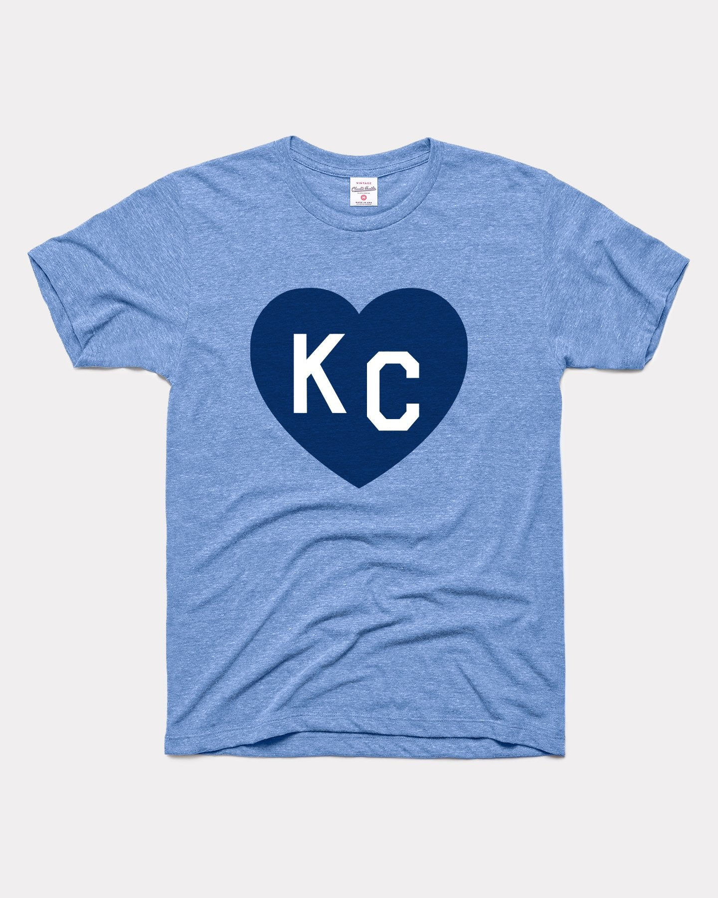 Vintage Blue KC Heart T-Shirt