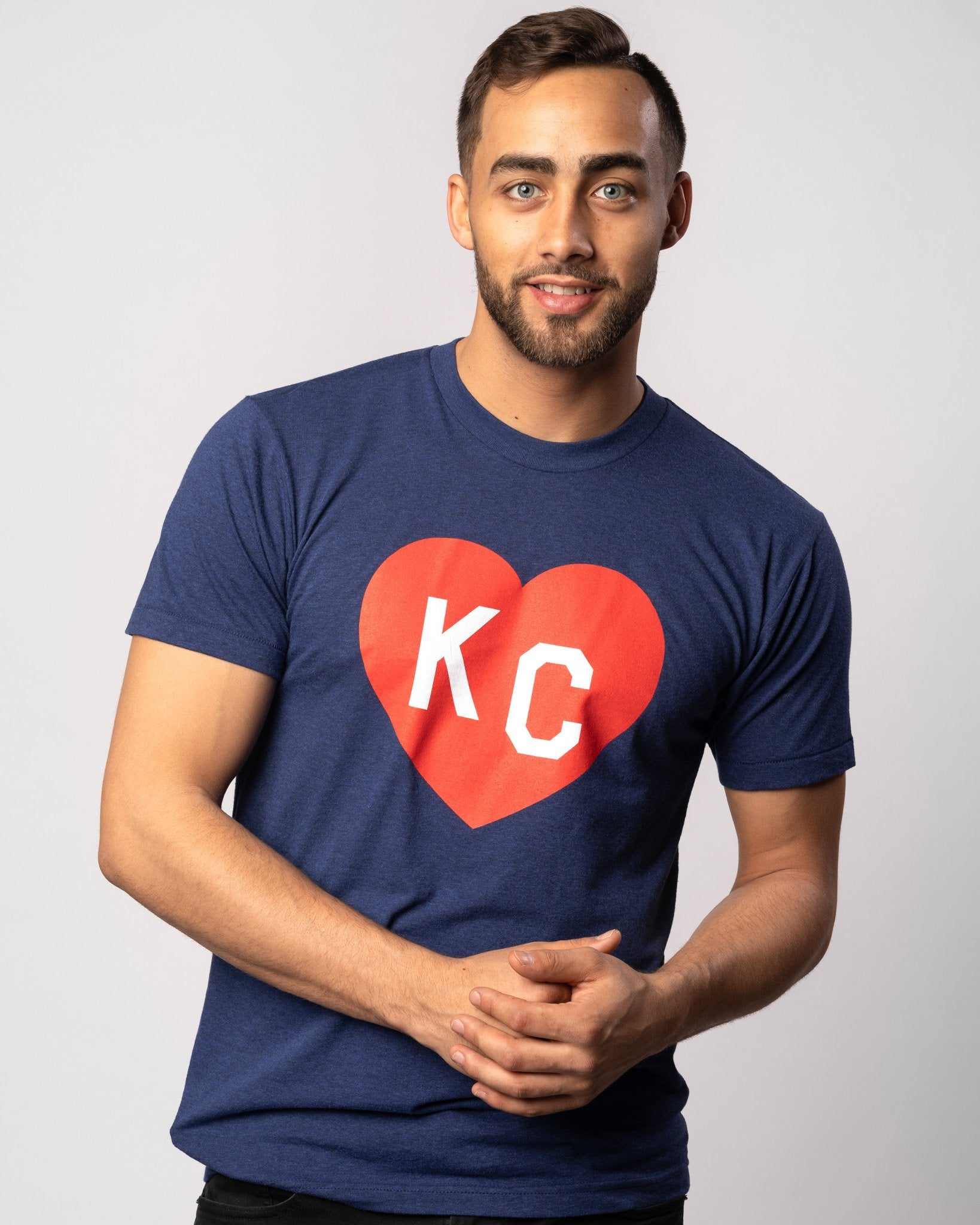 Vintage Navy KC Heart T-Shirt Wide