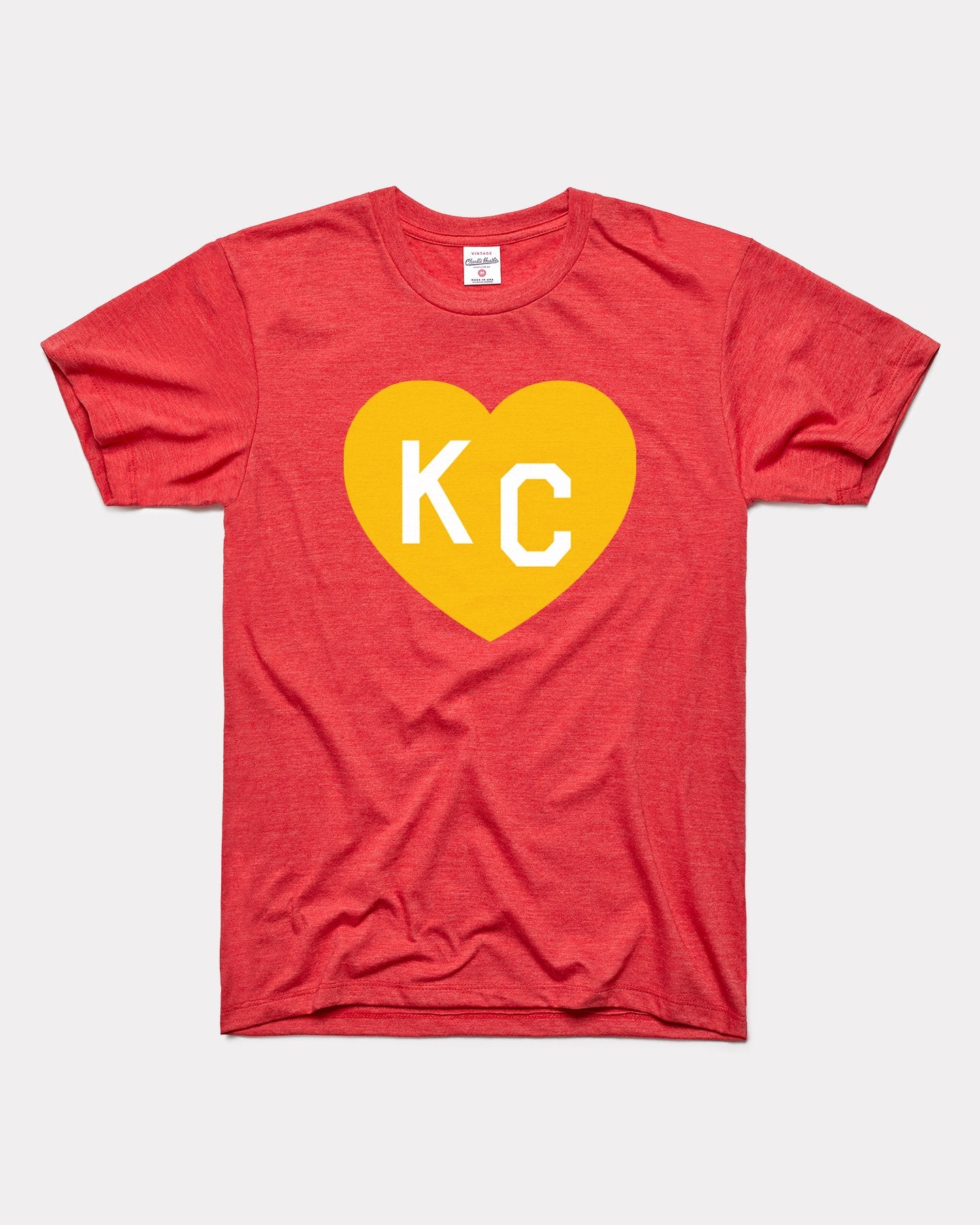 Red & Yellow KC Heart Vintage T-Shirt