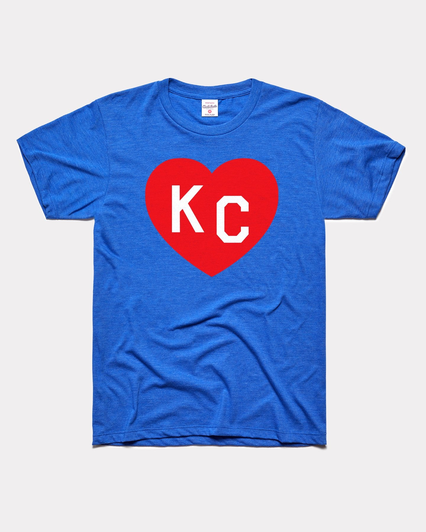 Royal Blue & Crimson KC Heart Vintage T-Shirt