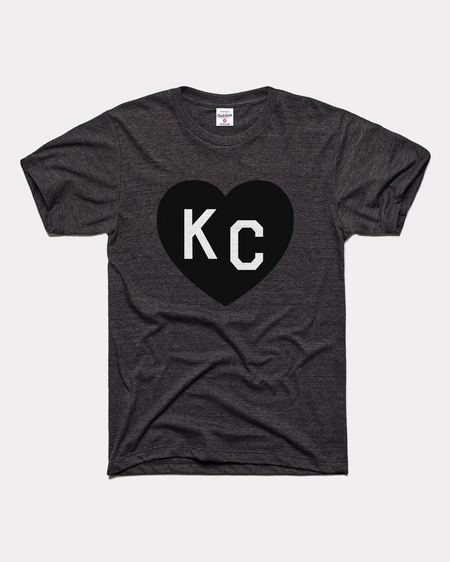 Black KC Heart Vintage T-Shirt