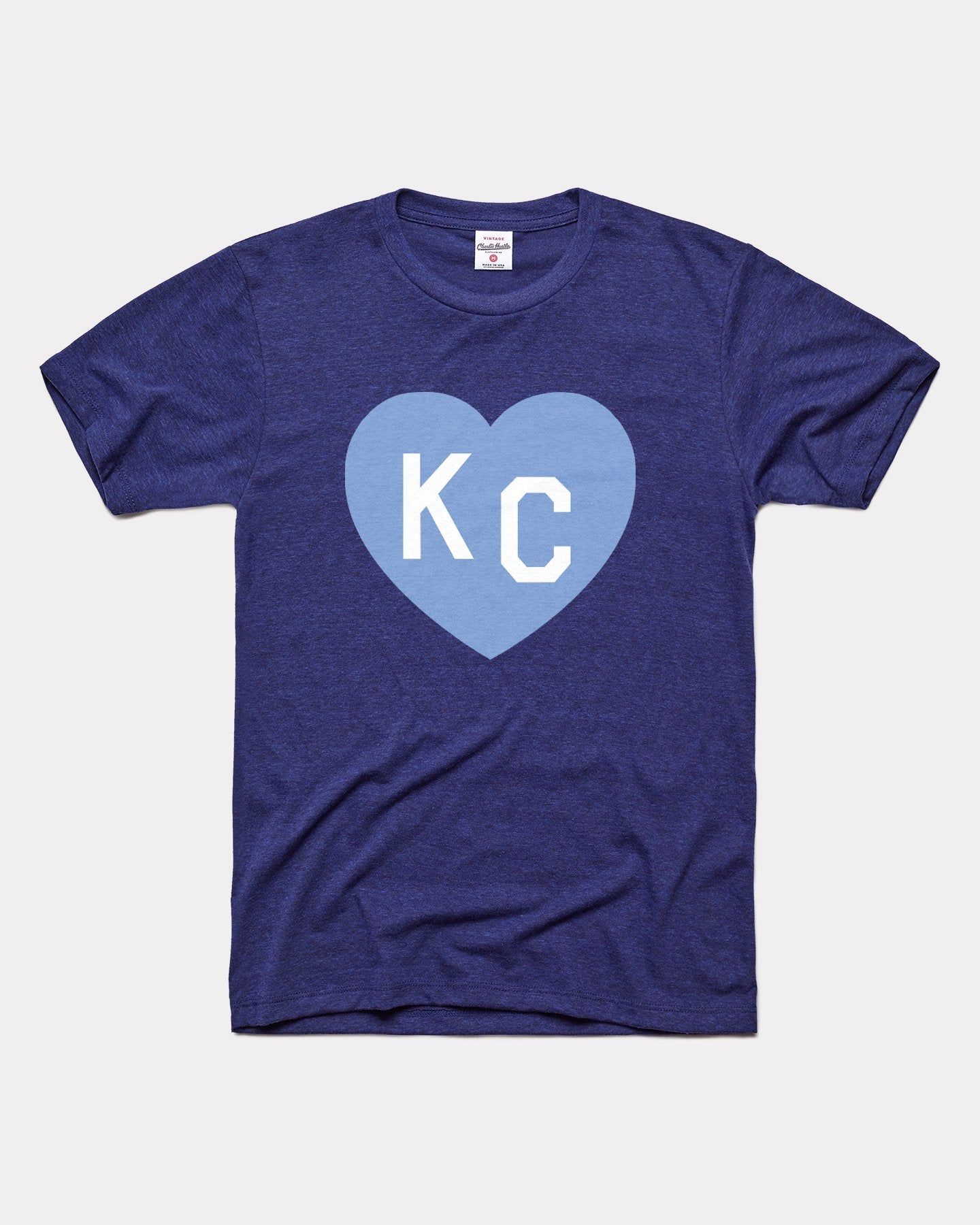 Navy & Light Blue KC Heart Vintage T-Shirt
