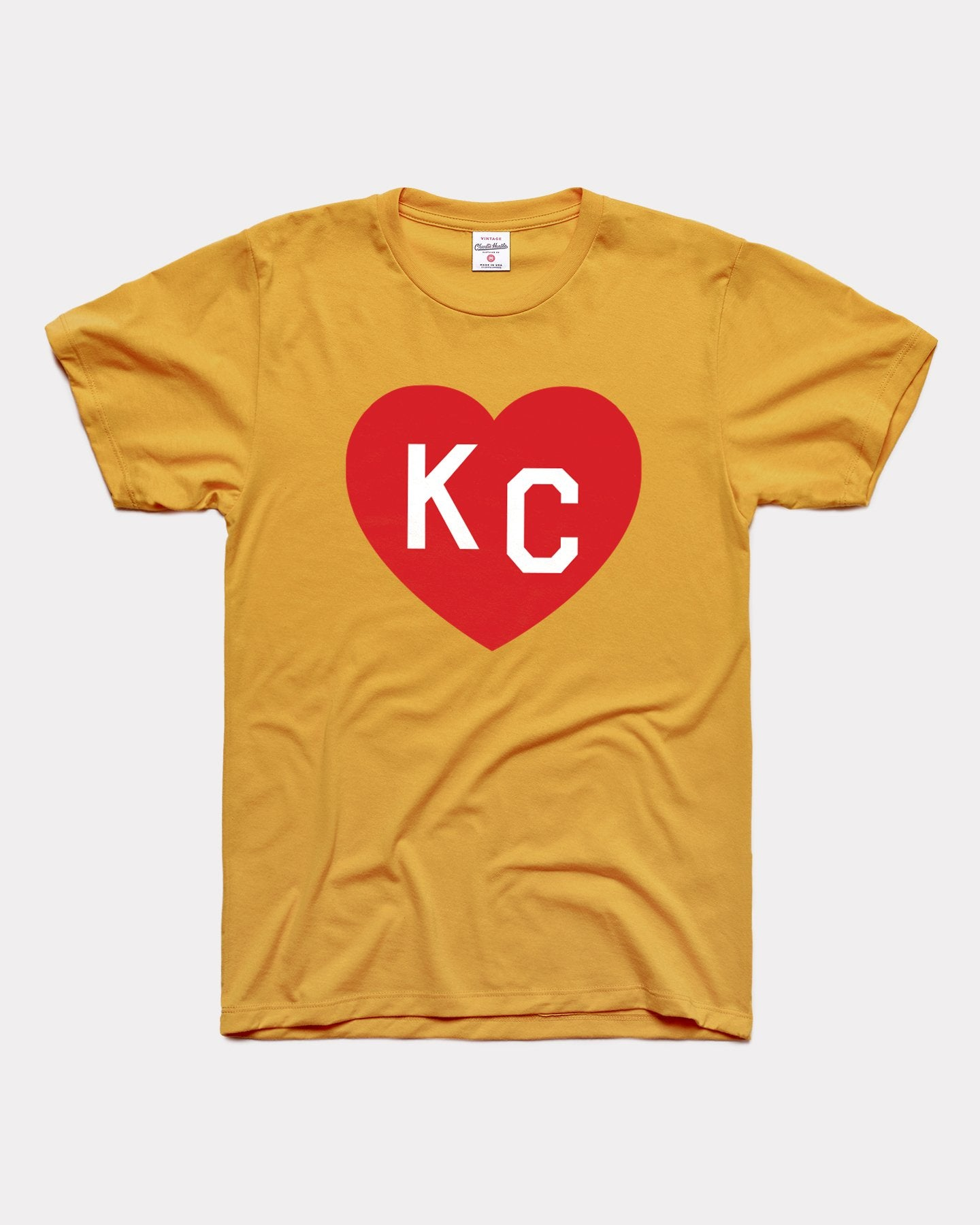 Gold & Red KC Heart Vintage T-Shirt