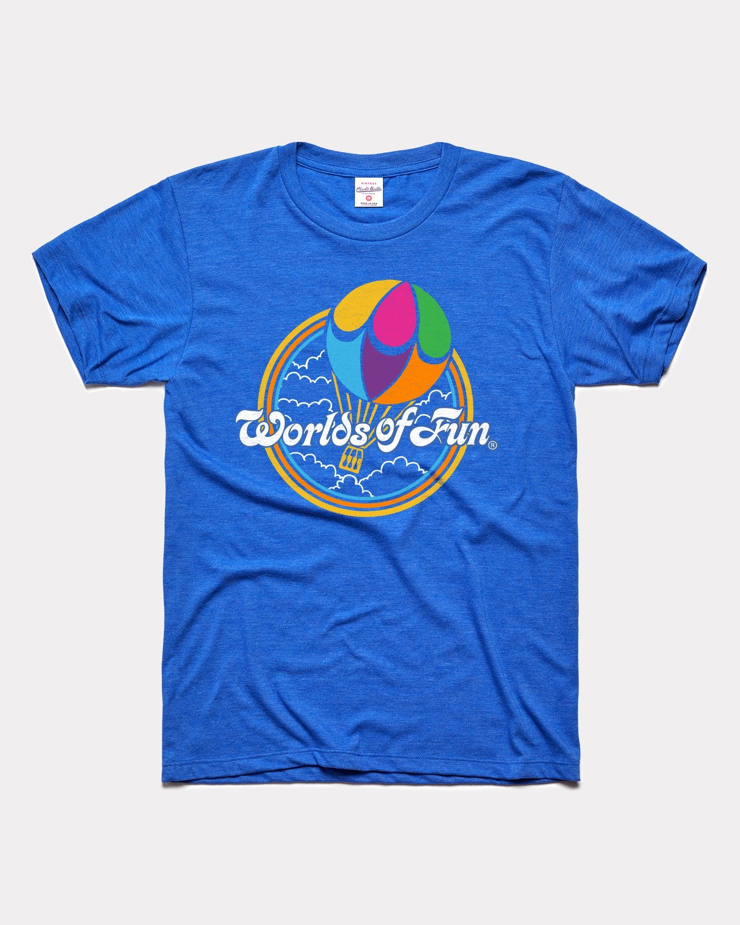Royal Blue Words Of Fun Balloon Vintage T-Shirt