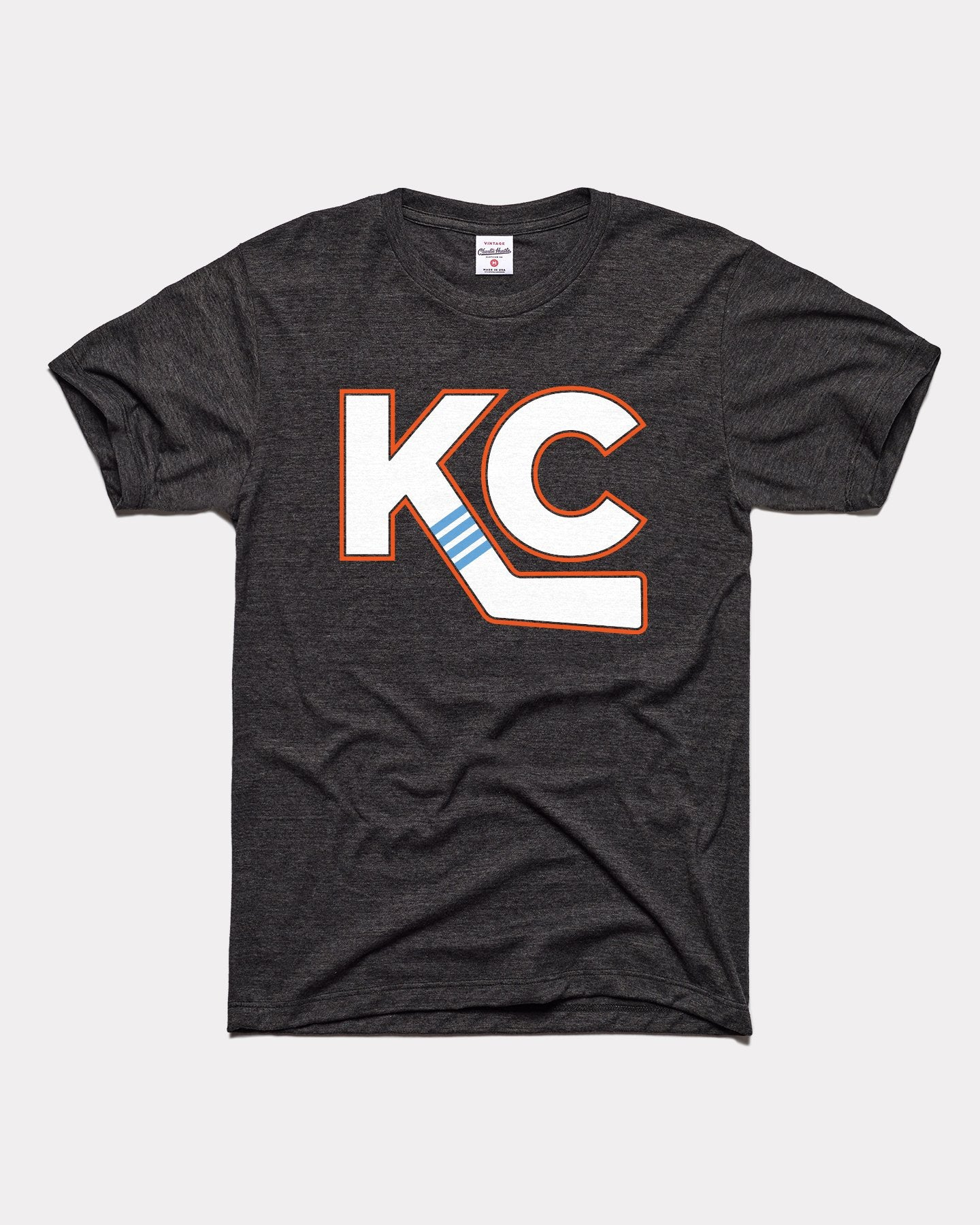 Black Kansas City Mavericks KC Hockey Stick Vintage T-Shirt