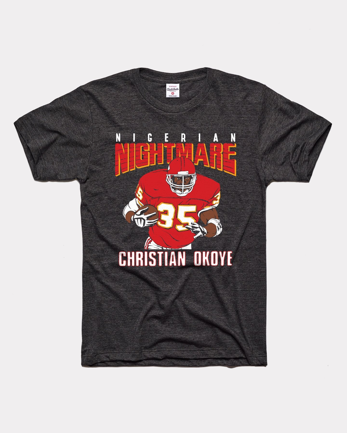 Black Christian Okoye Nigerian Nightmare Vintage T-Shirt