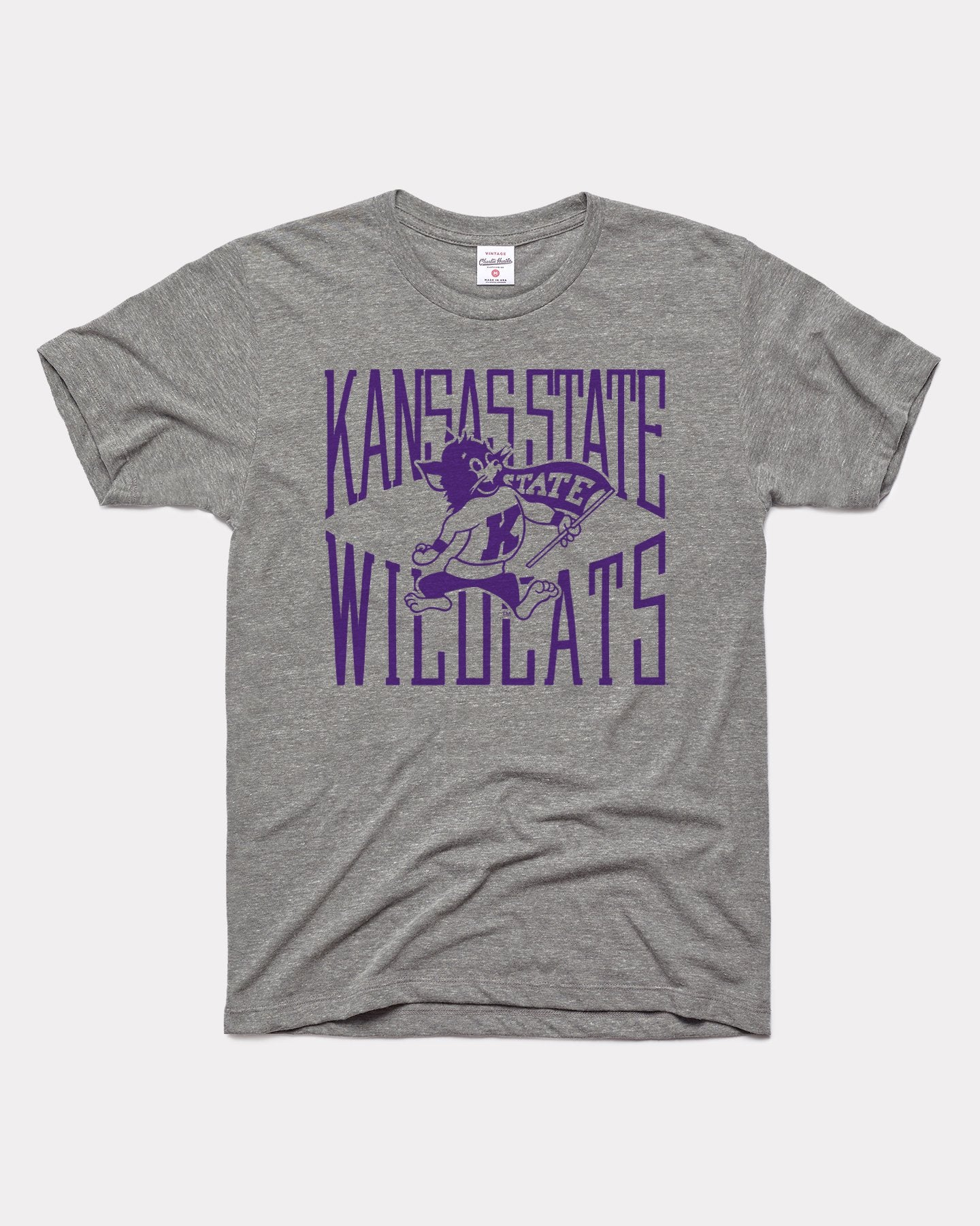 Grey K-State Wildcats Game Day Tall Type Vintage T-Shirt
