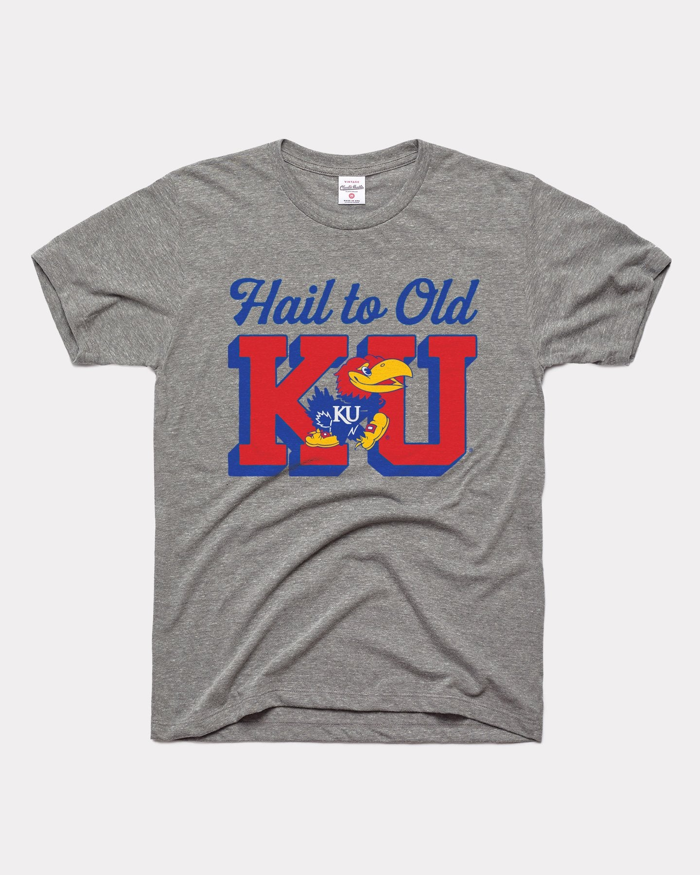 Grey Kansas Jayhawks Hail to Old KU Vintage T-Shirt