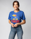 Royal Blue University Of Kansas Jayhawks Legacy Vintage T-Shirt Front