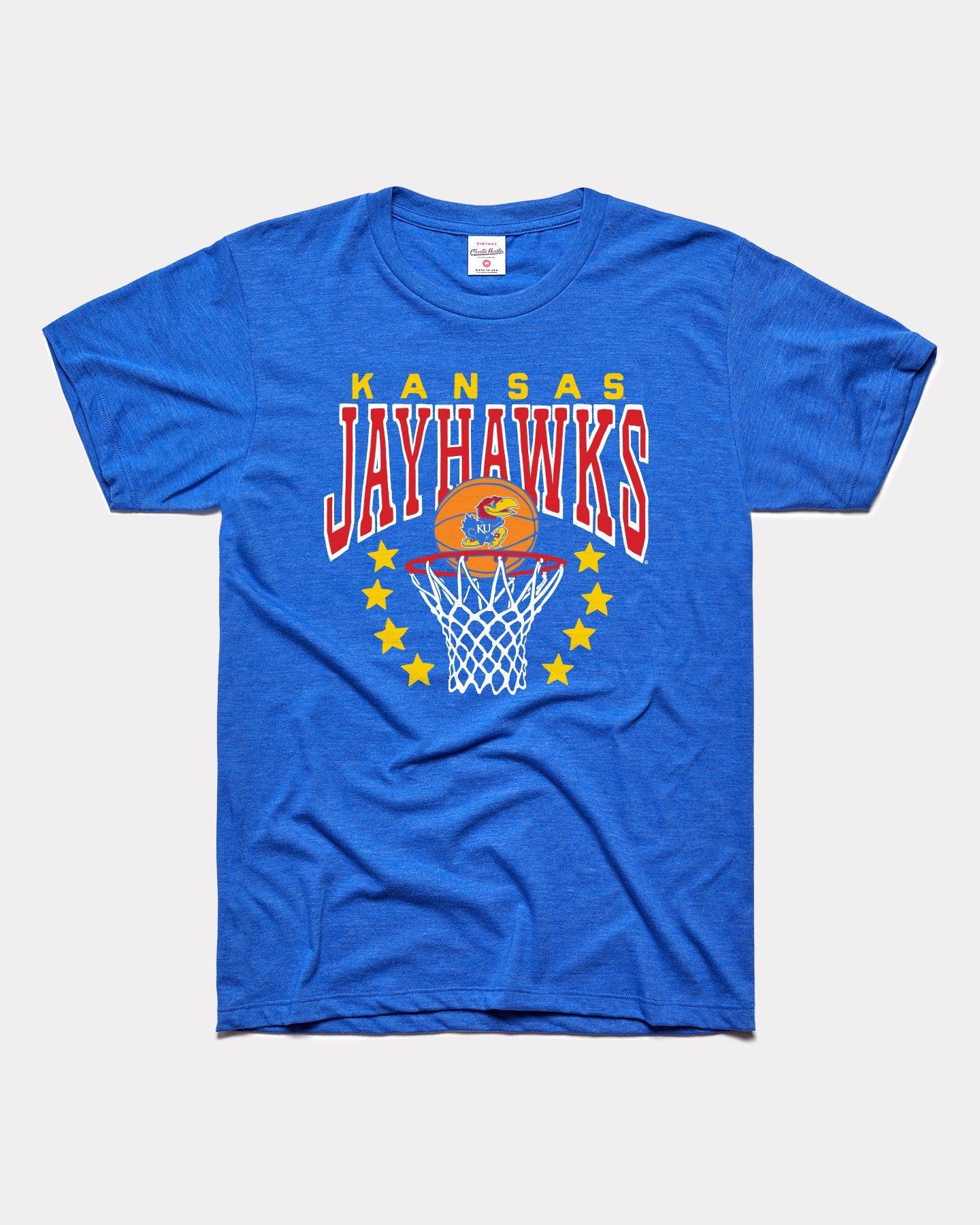 Royal Blue University of Kansas Jayhawks Basketball Vintage T-Shirt