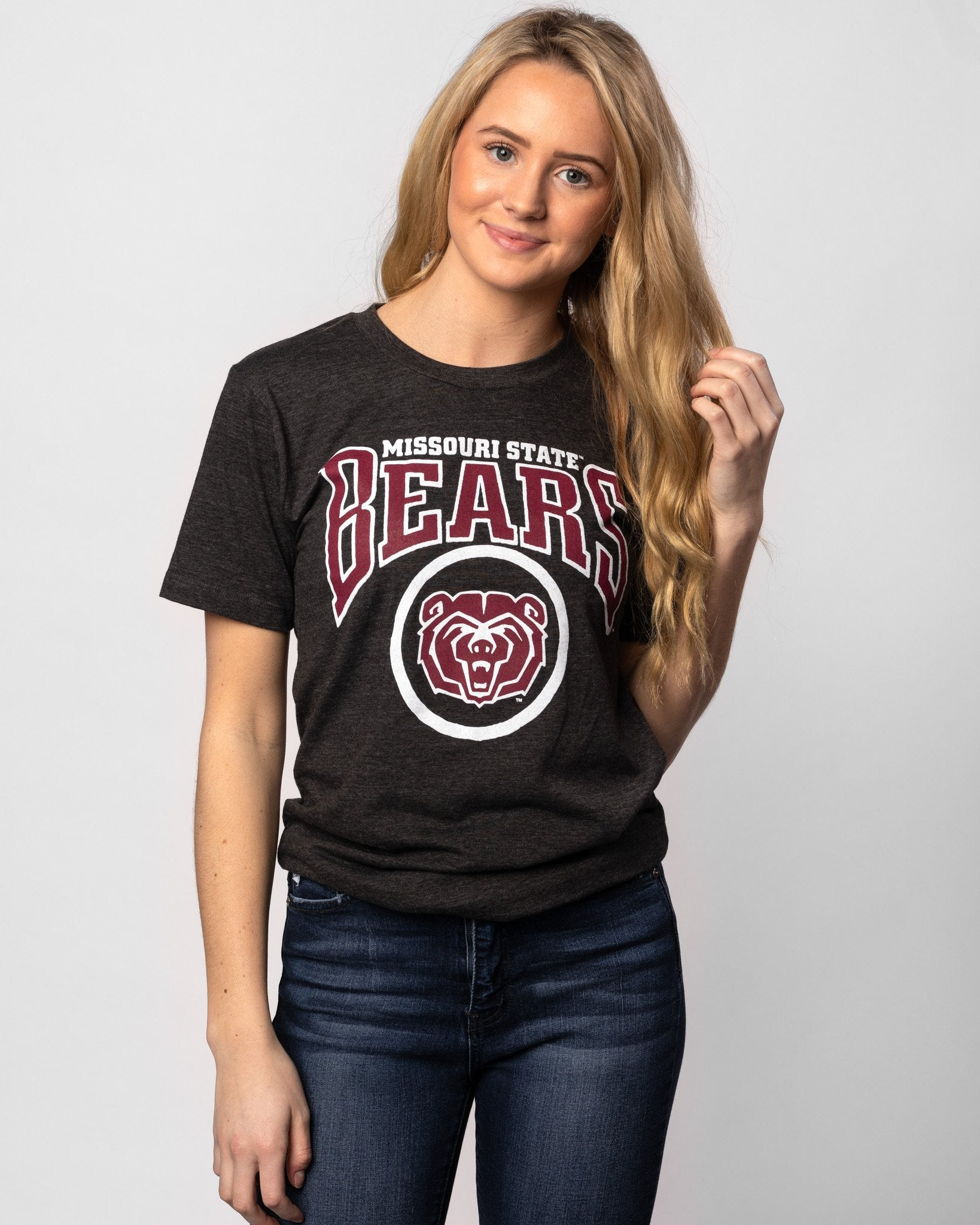 Black Missouri State Bears Vintage T-Shirt Front