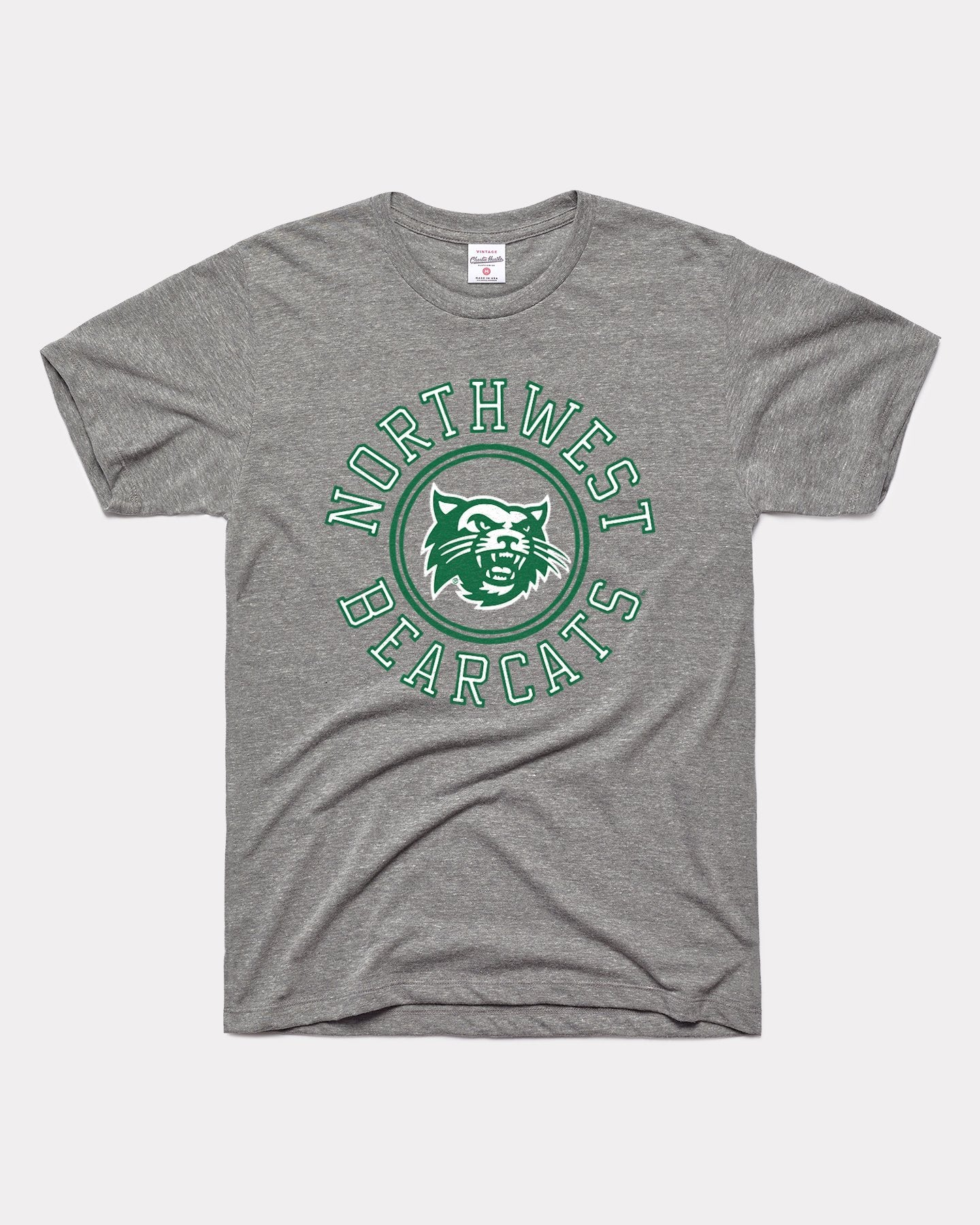Grey Northwest Missouri State University Bearcats Wheel Vintage T-Shirt