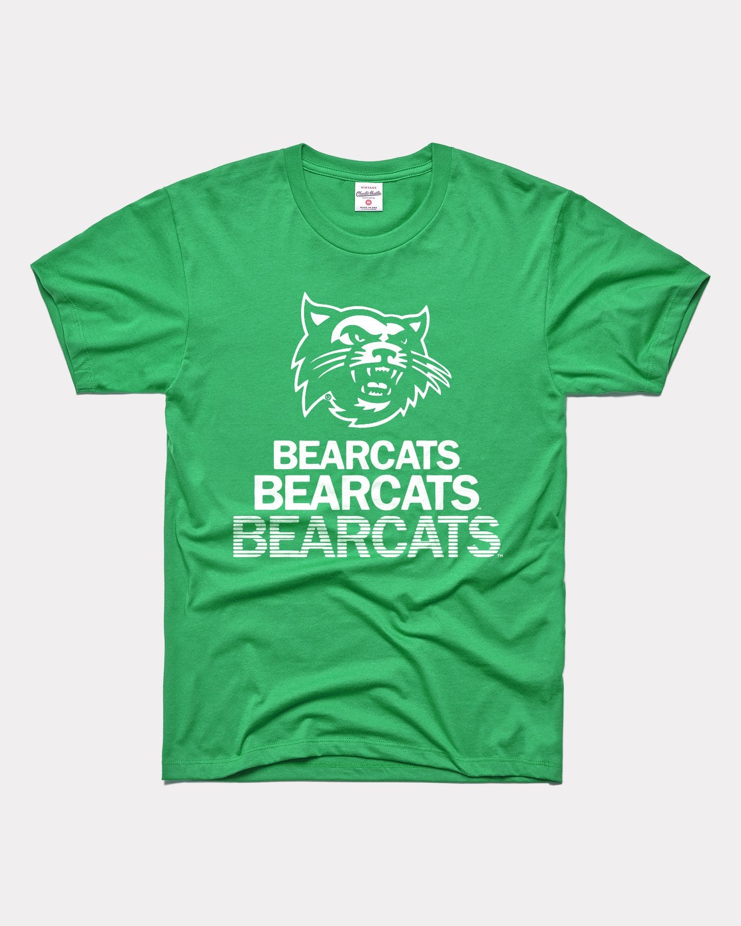 Green Northwest Missouri State University Bearcats Stacked Vintage T-Shirt