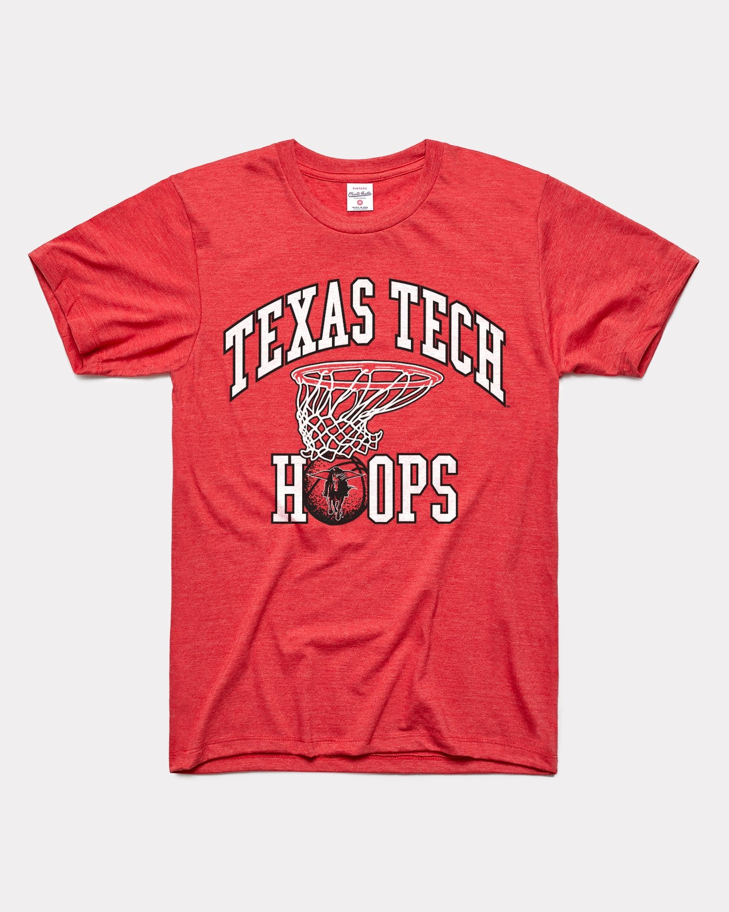 Red Texas Tech Basketball Red Raiders Hoops Vintage T-Shirt