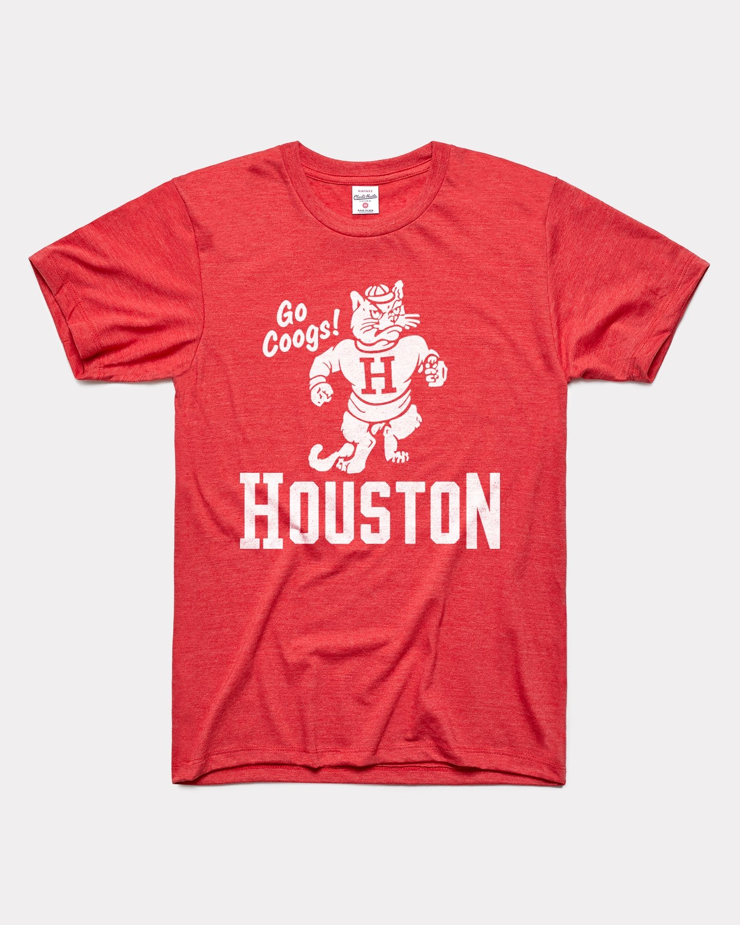 Red Houston Cougars Go Coogs Vintage T-Shirt