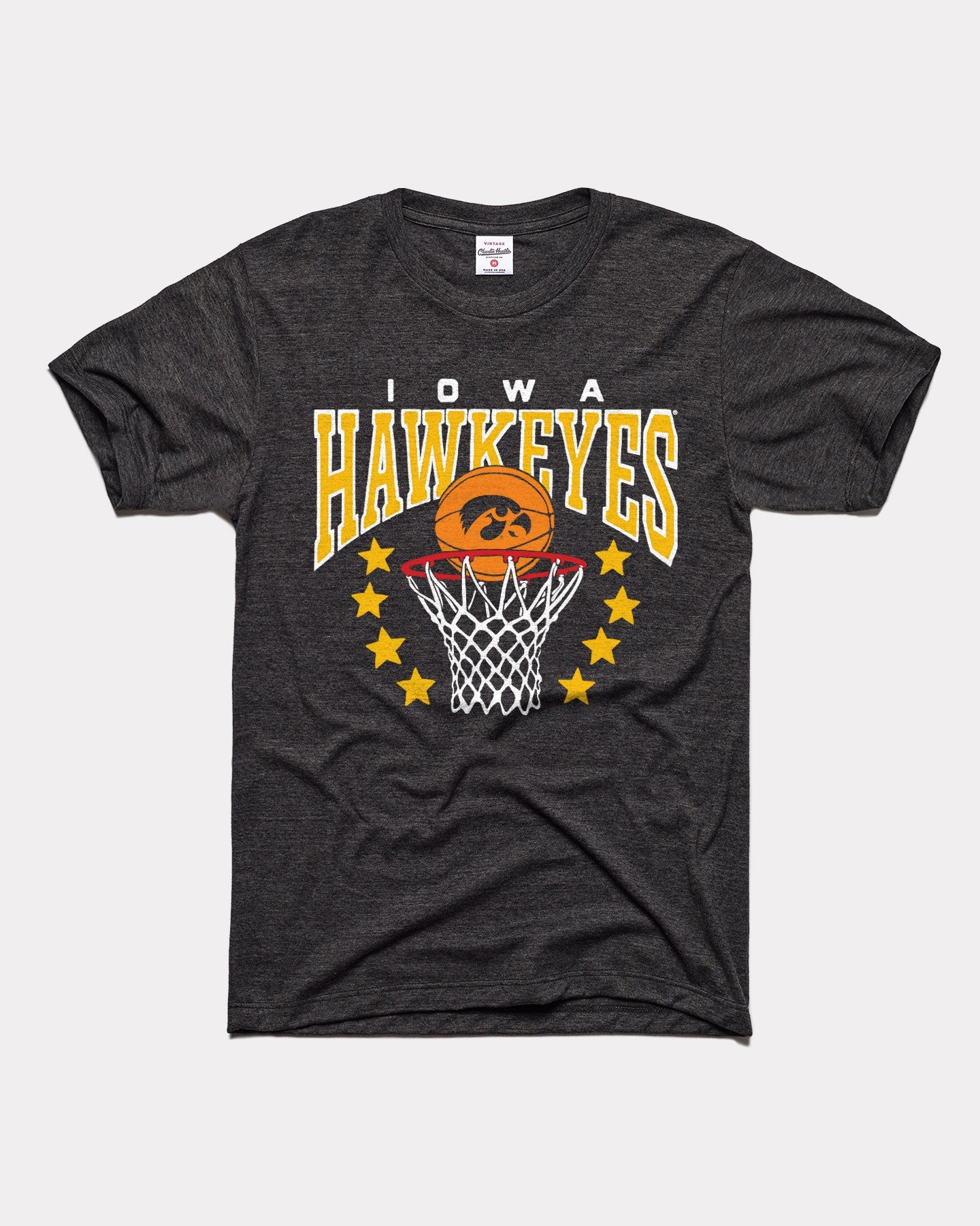 Black Iowa Hawkeyes Basketball Stars Vintage T-Shirt