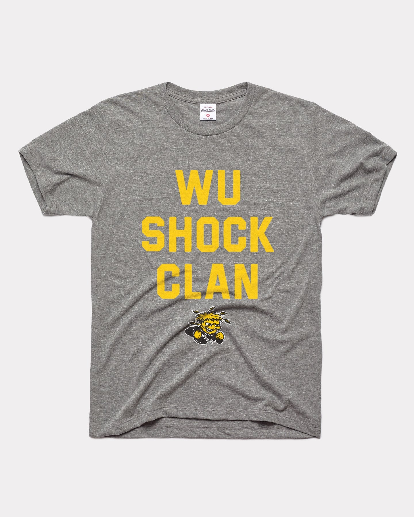 Grey Wichita State Shockers Wu Shock Clan Vintage T-Shirt