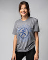 Grey Washburn University Ichabods Wheel Vintage T-Shirt Front