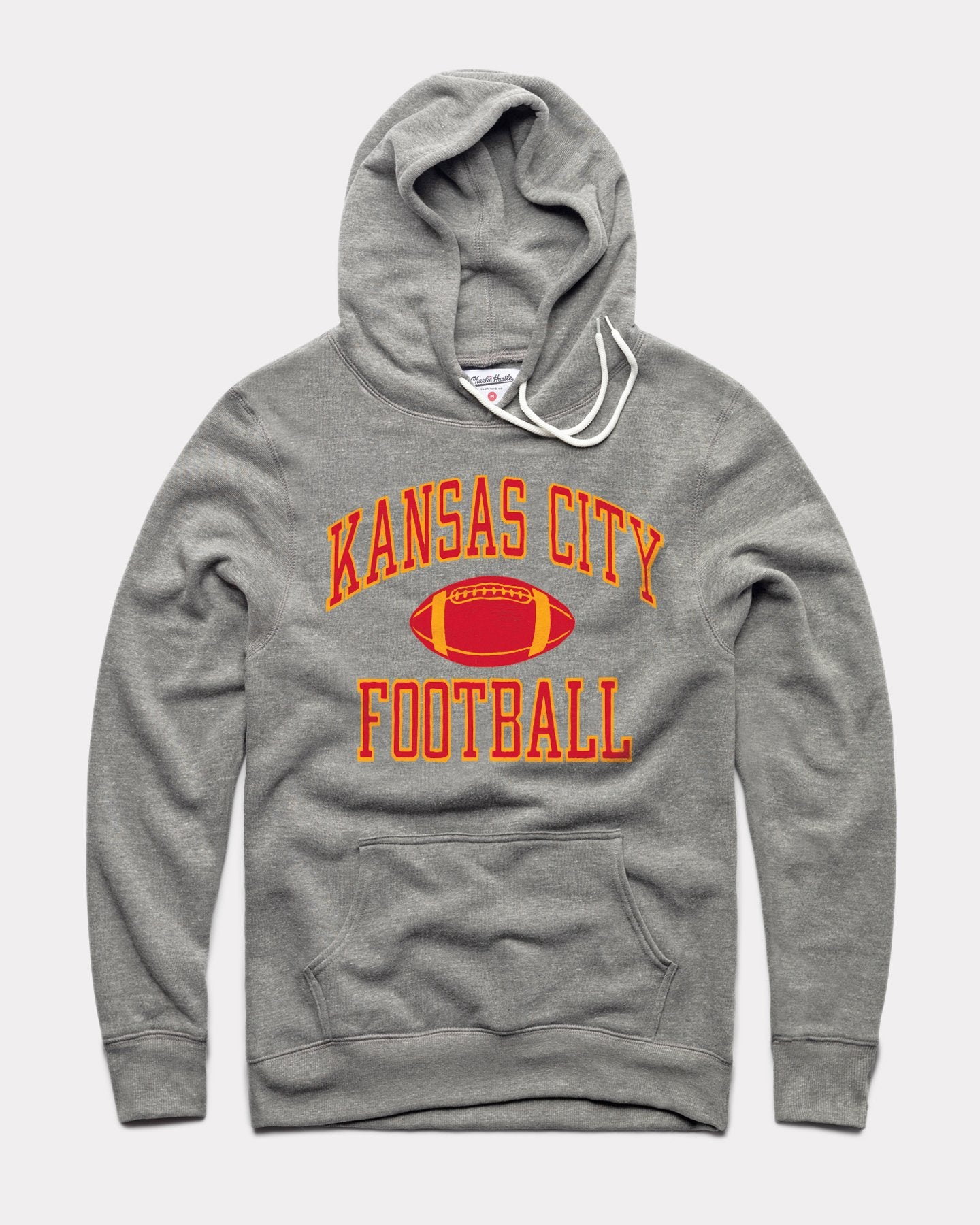 Grey Kansas City Football Vintage Arrowhead Hoodie Sweatshirt