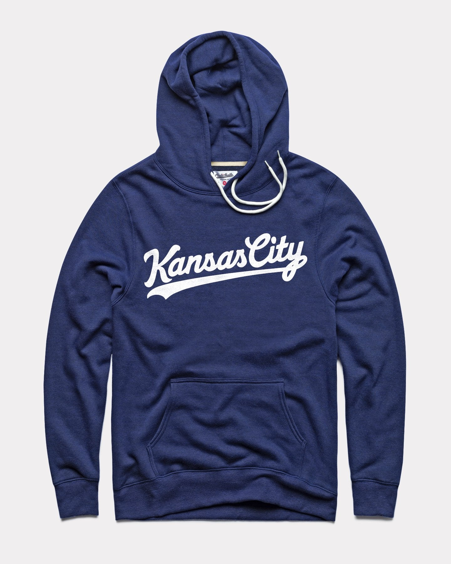 Navy & White Kansas City Script Vintage Hoodie Sweatshirt