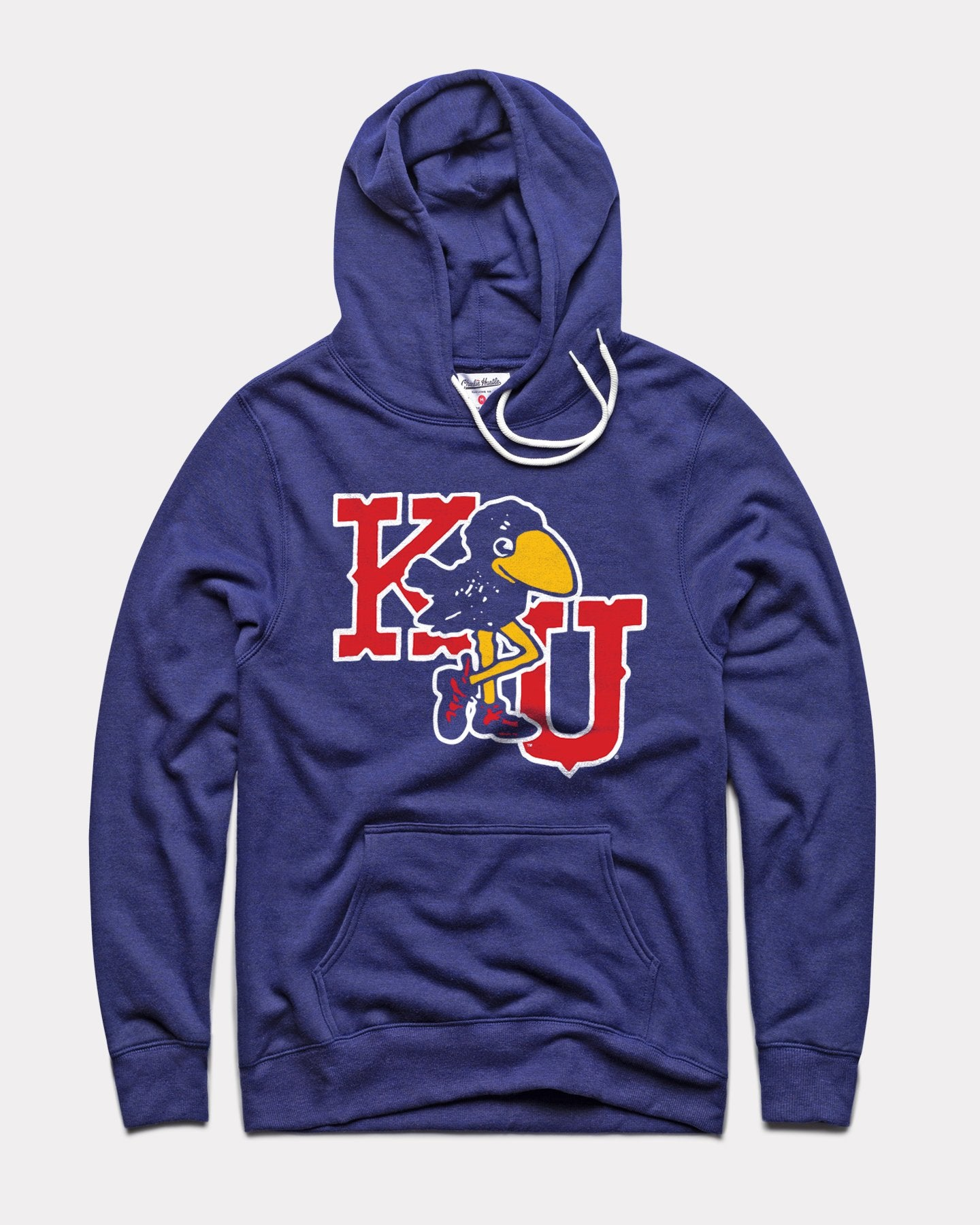 Navy Kansas Marching Jayhawks Vintage Hoodie Sweatshirt