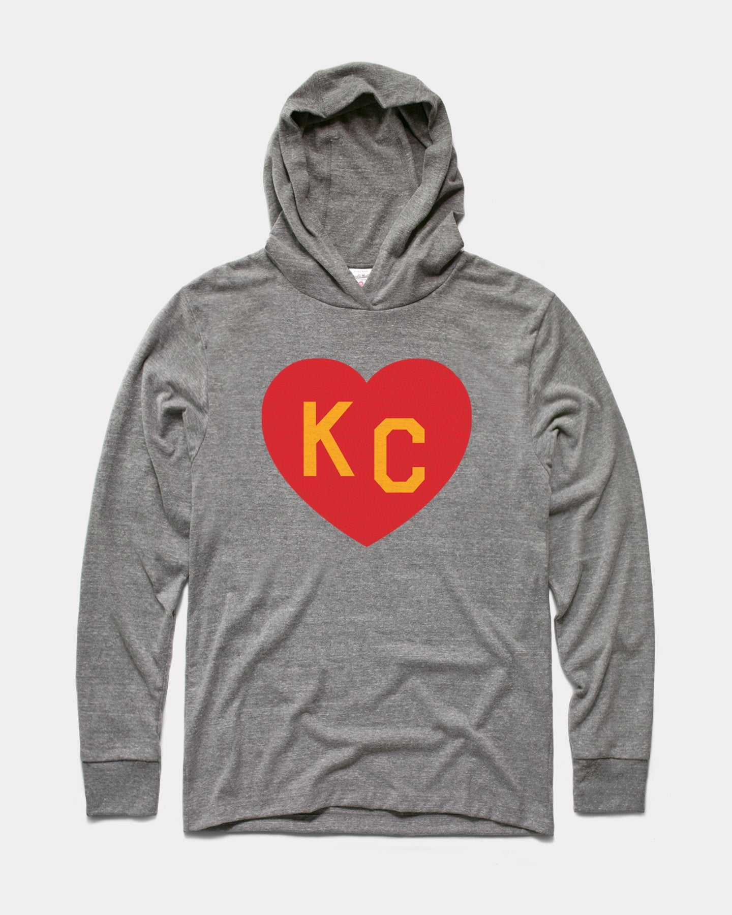 Grey Arrowhead Kingdom KC Heart Vintage Lightweight Hoodie Sweatshirt