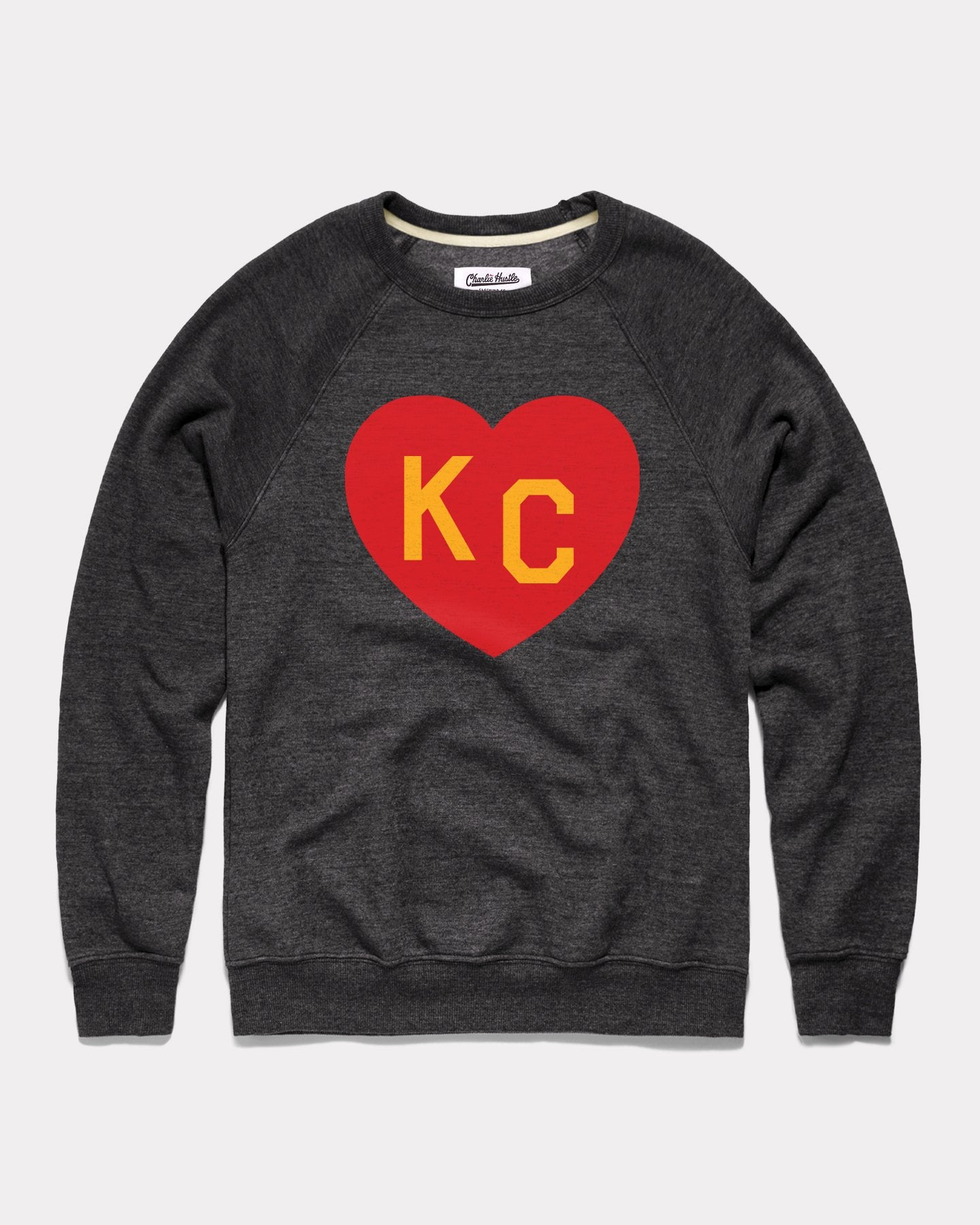 Black & Red Arrowhead KC Heart Vintage Crewneck Sweatshirt