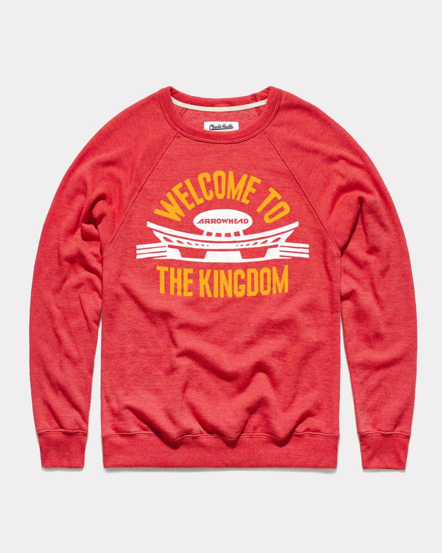 Red Welcome To The Kingdom Vintage Arrowhead Crewneck Sweatshirt