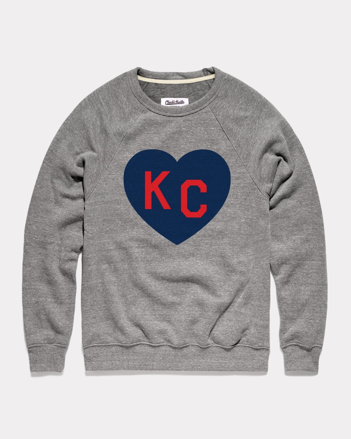 Vintage Grey KC Heart Crewneck Sweatshirt