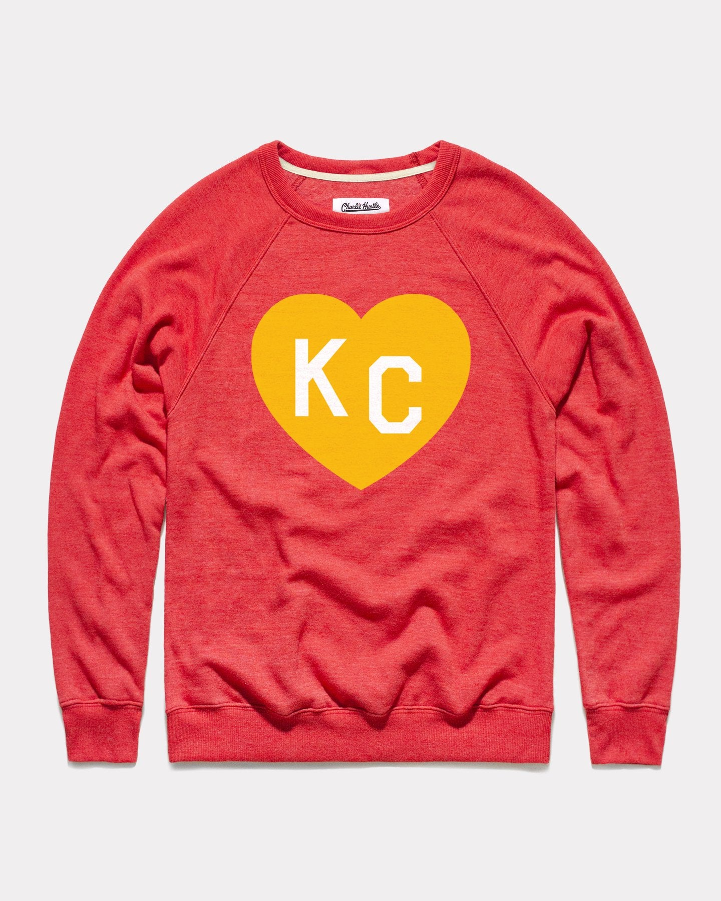 Heather Red KC Heart Vintage Crewneck Sweatshirt