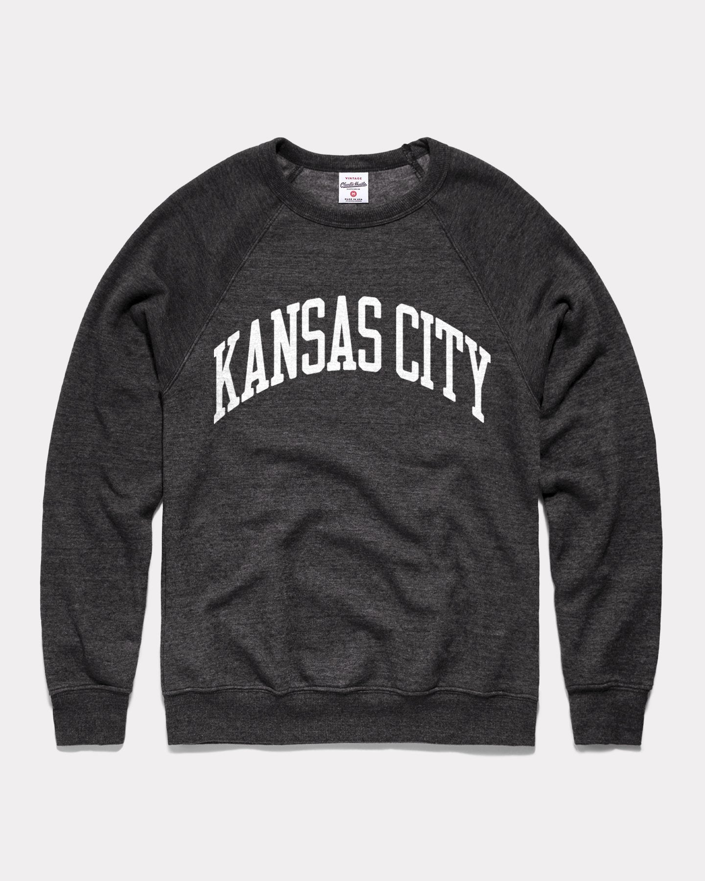 Black & White Kansas City Arch Vintage Crewneck Sweatshirt