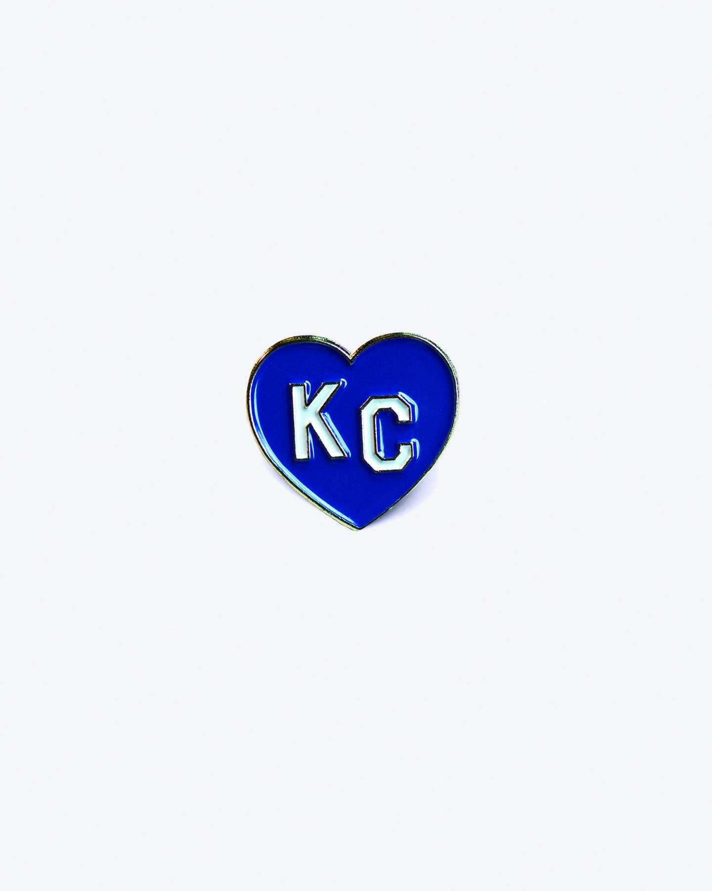Royal Blue KC Heart Enamel Lapel Pin