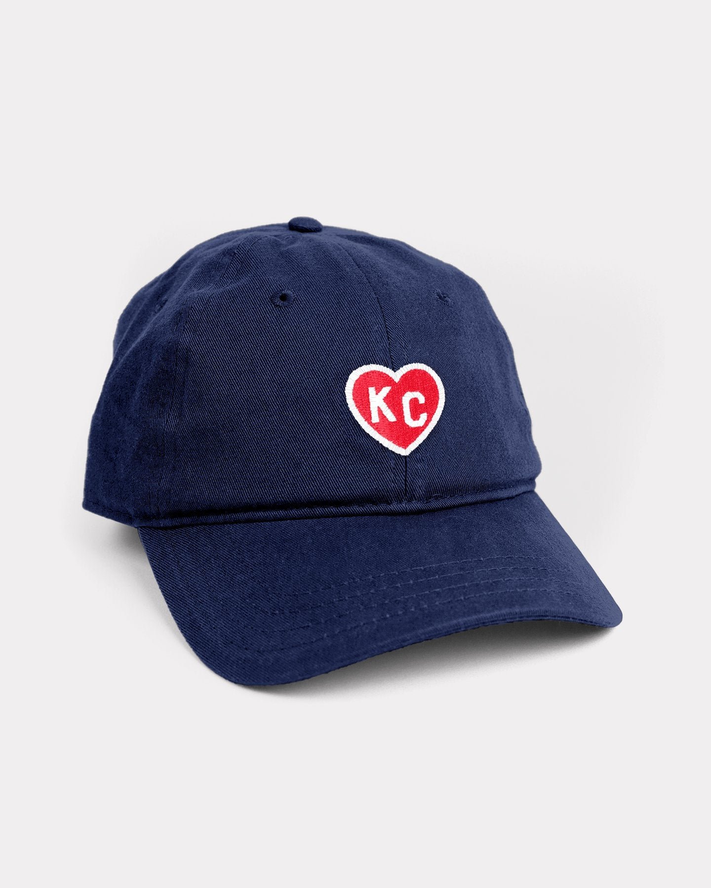 Navy & Red KC Heart Vintage Dad Hat