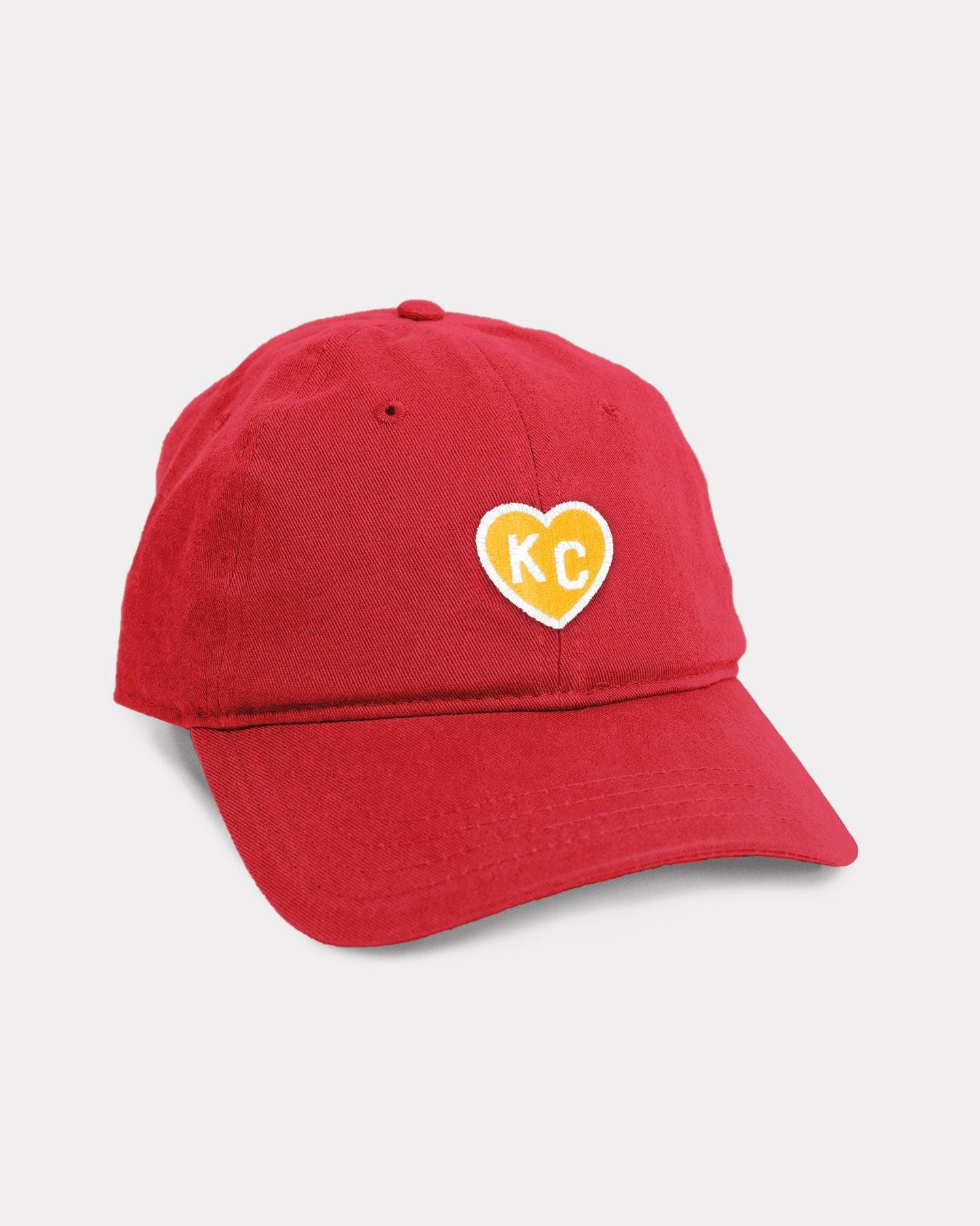 Red & Yellow KC Heart Vintage Dad Hat