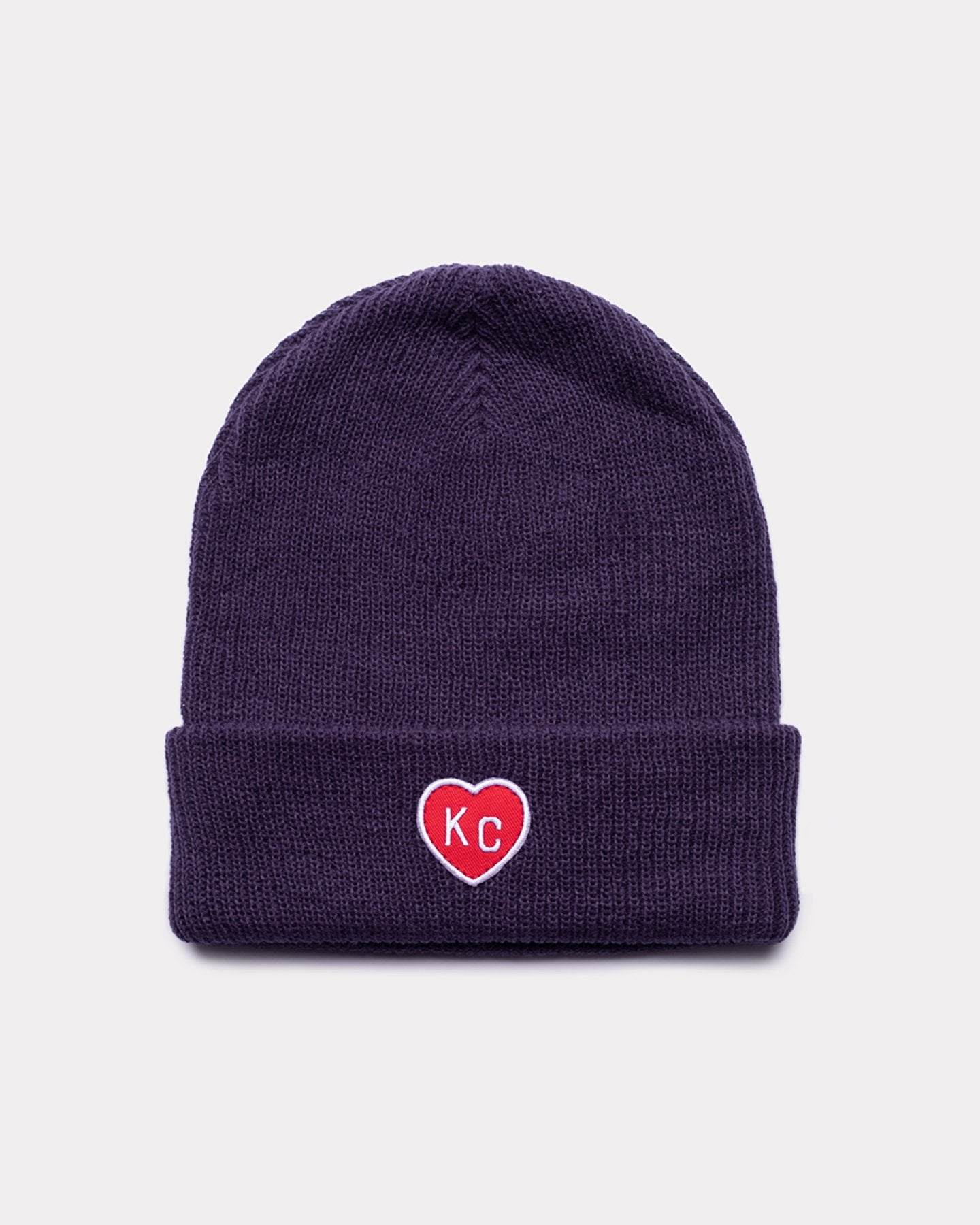 Navy & Red KC Heart Vintage Beanie Hat