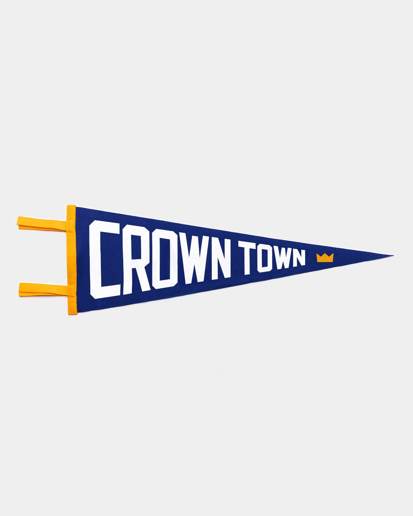 Royal Blue & Gold Crown Town Baseball Vintage Pennant