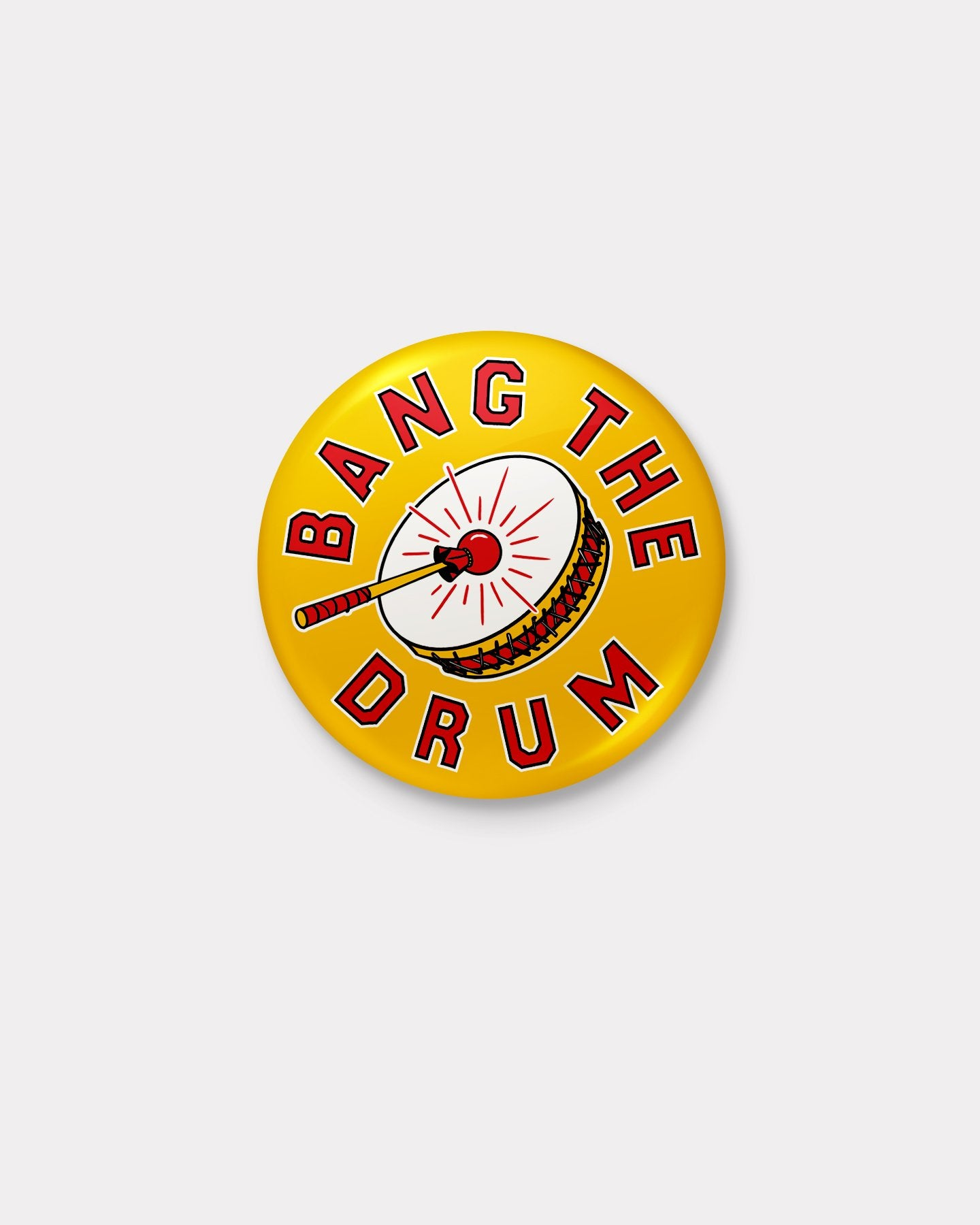 Gold Bang The Drum Arrowhead Button