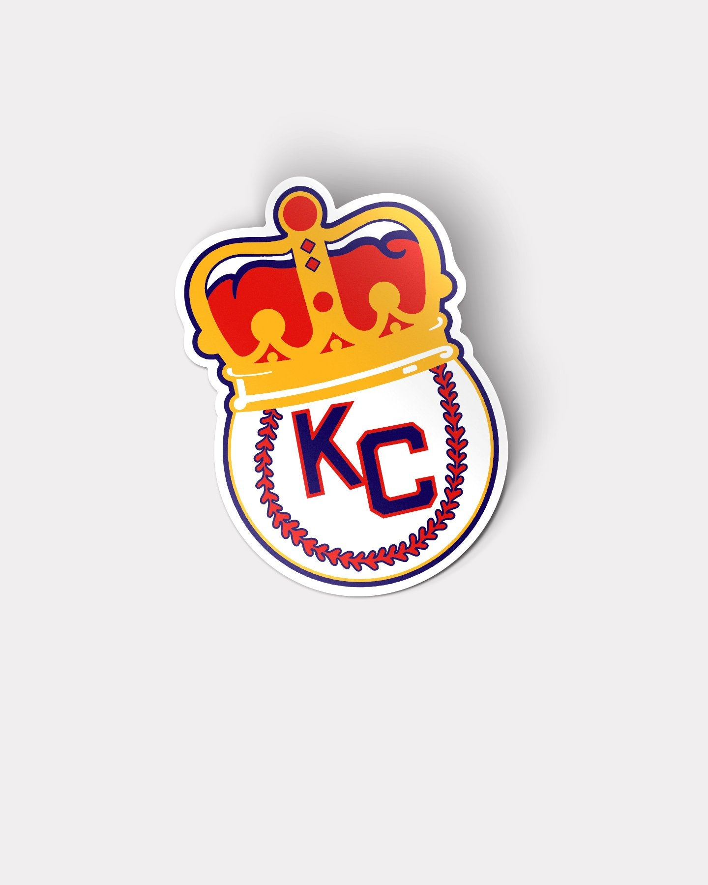 Kansas City Monarchs KC Crown Logo Vinyl Sticker