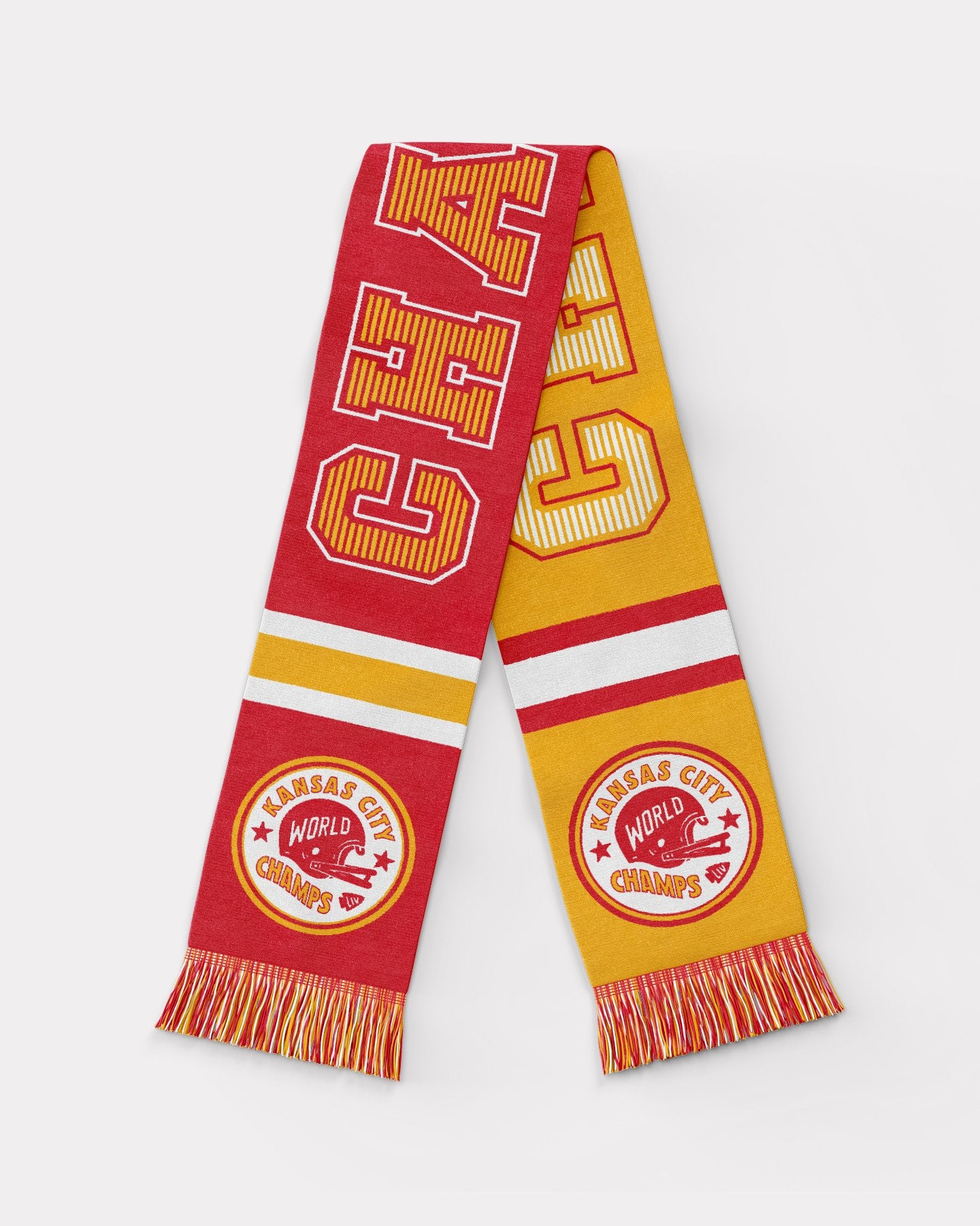 Kansas City World Champs Red & Gold Vintage Arrowhead Scarf