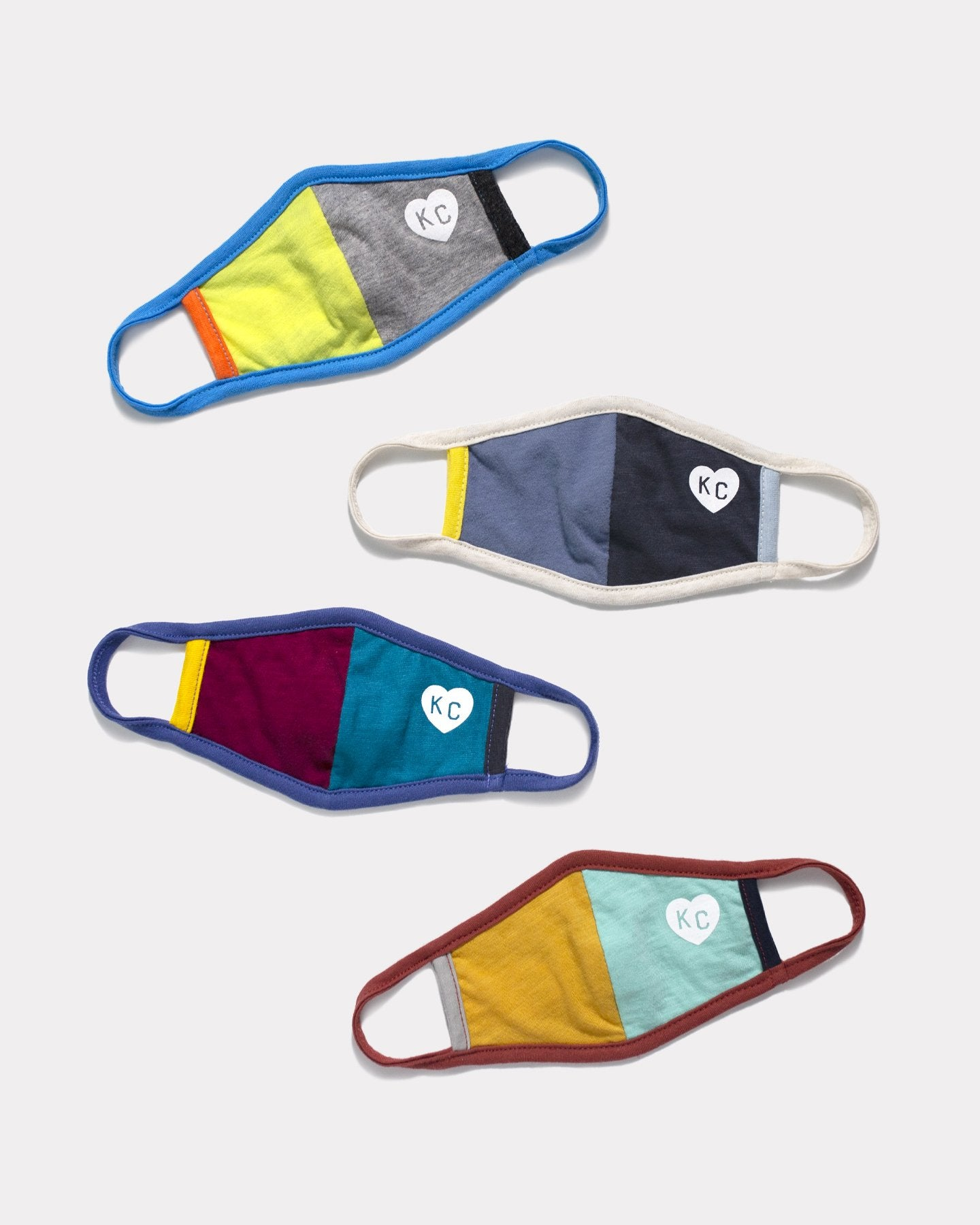 3 Pack Multi-Colored KC Heart Kids Comfort Face Mask