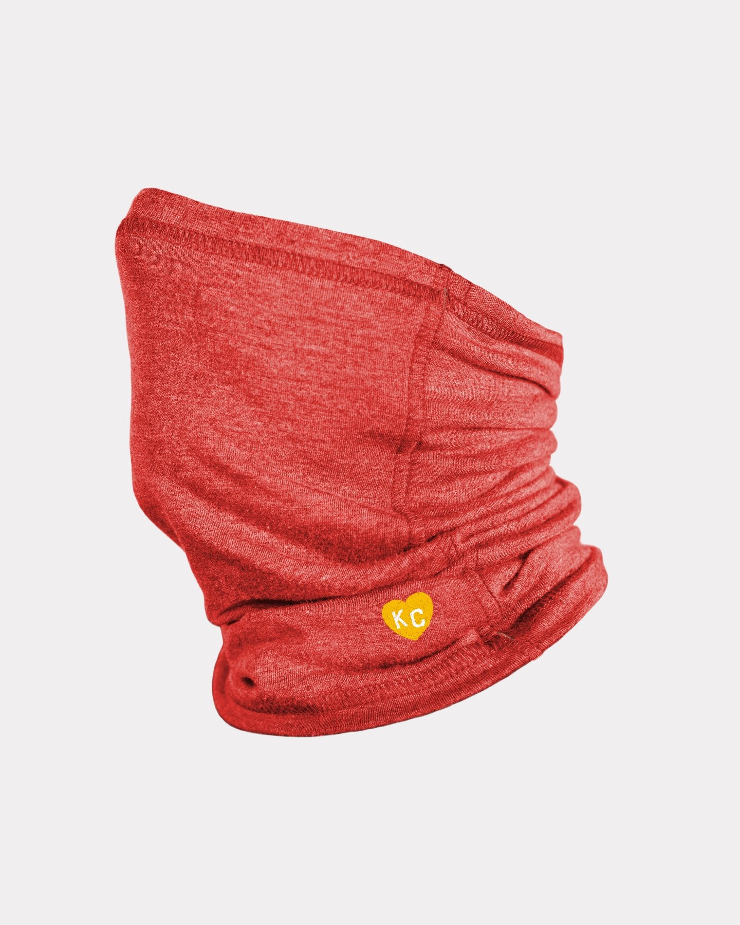 Red & Gold KC Heart Neck Gaiter