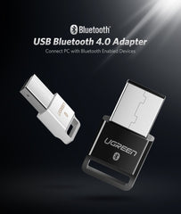 ▷USB Bluetooth Dongle  Ugreen adaptador 4,0 para ordenador, altavoz, ratón inalámbrico Bluetooth, música, Audio receptor transmisor✅