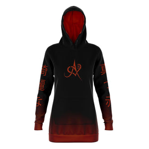 Akeemmii Bright Red & Beautiful Hoodie
